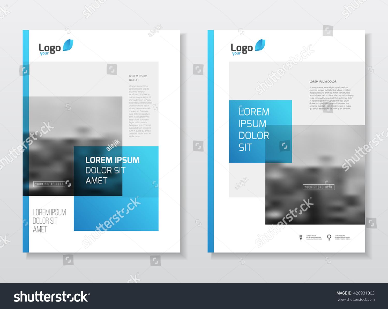 Catalogue Cover Design Annual Report Vector Stock Vector