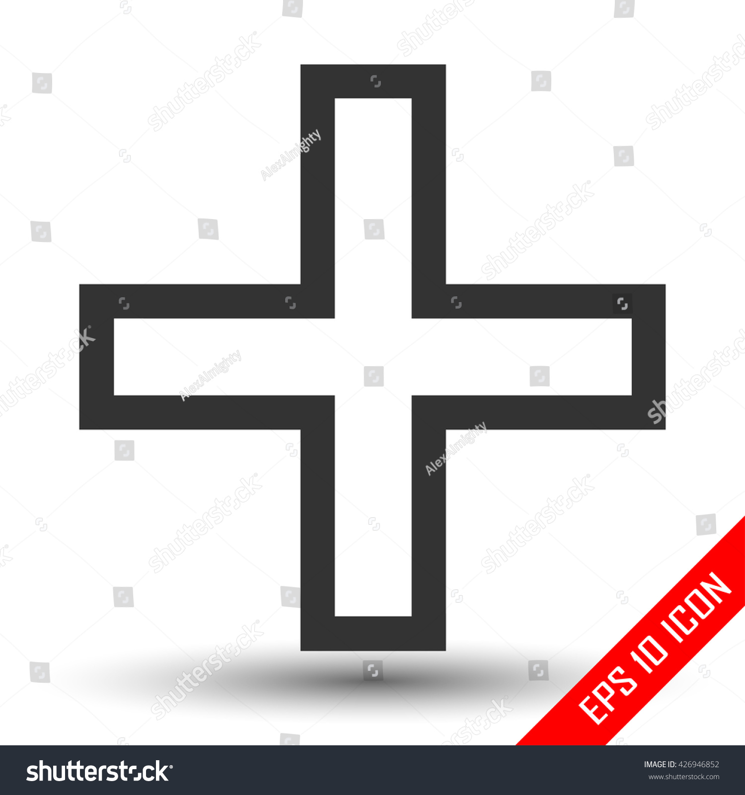 Plus sign icon positive symbol isolated stock vector 426946852 plus sign icon positive symbol isolated on a white background zoom in logo biocorpaavc Choice Image