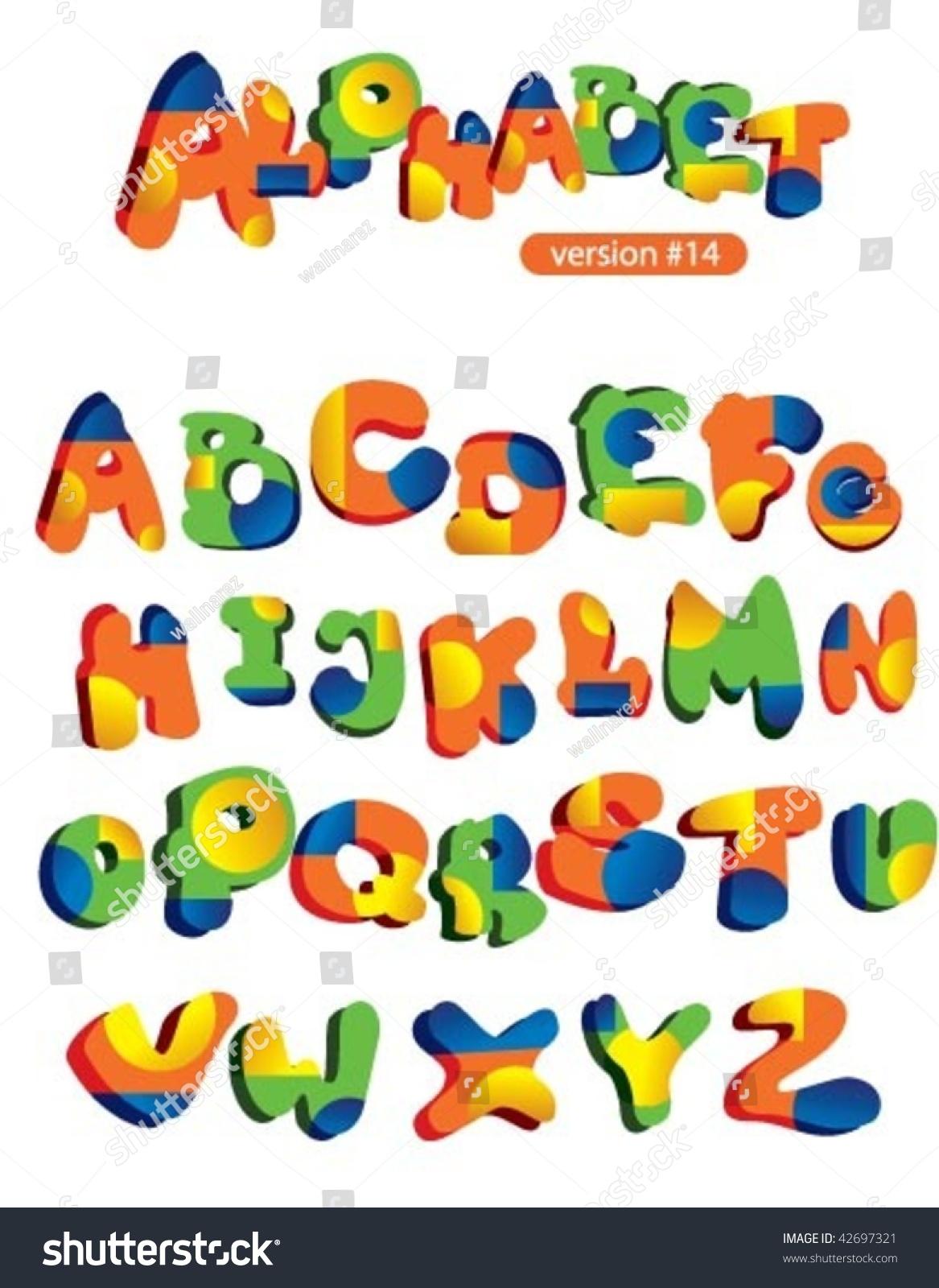 funny circus alphabet 库存矢量图42697321 shutterstock