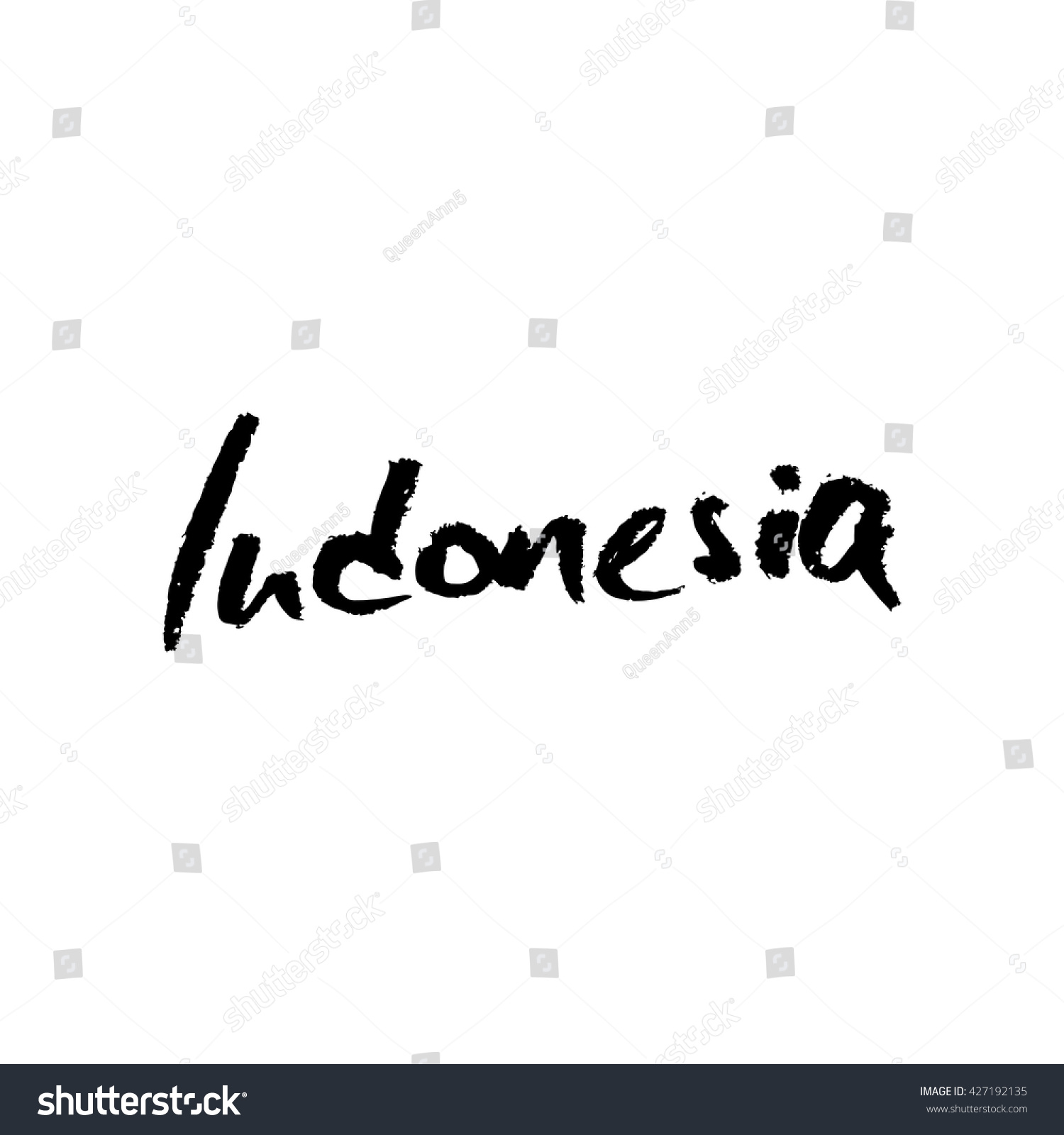Indonesia hand lettering vector modern calligraphy stock