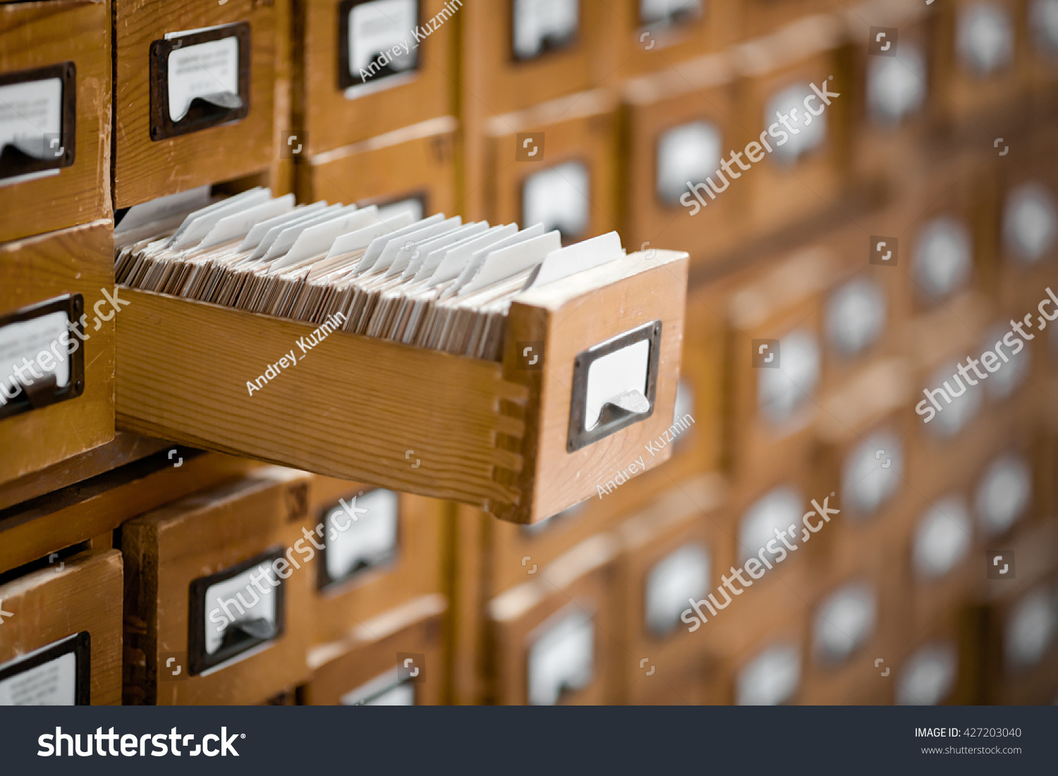 library or archive reference card catalog database knowledge