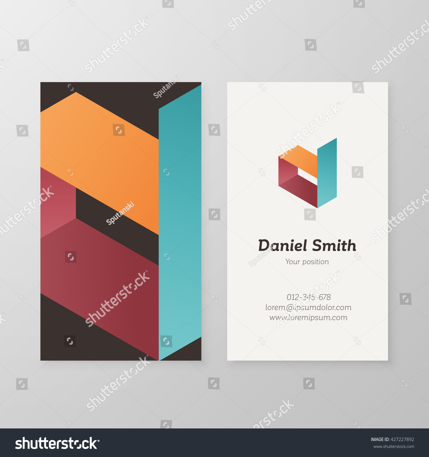 Business card isometric logo letter d stock vector 427227892 business card isometric logo letter d vector template vector business card logo design letter d magicingreecefo Image collections