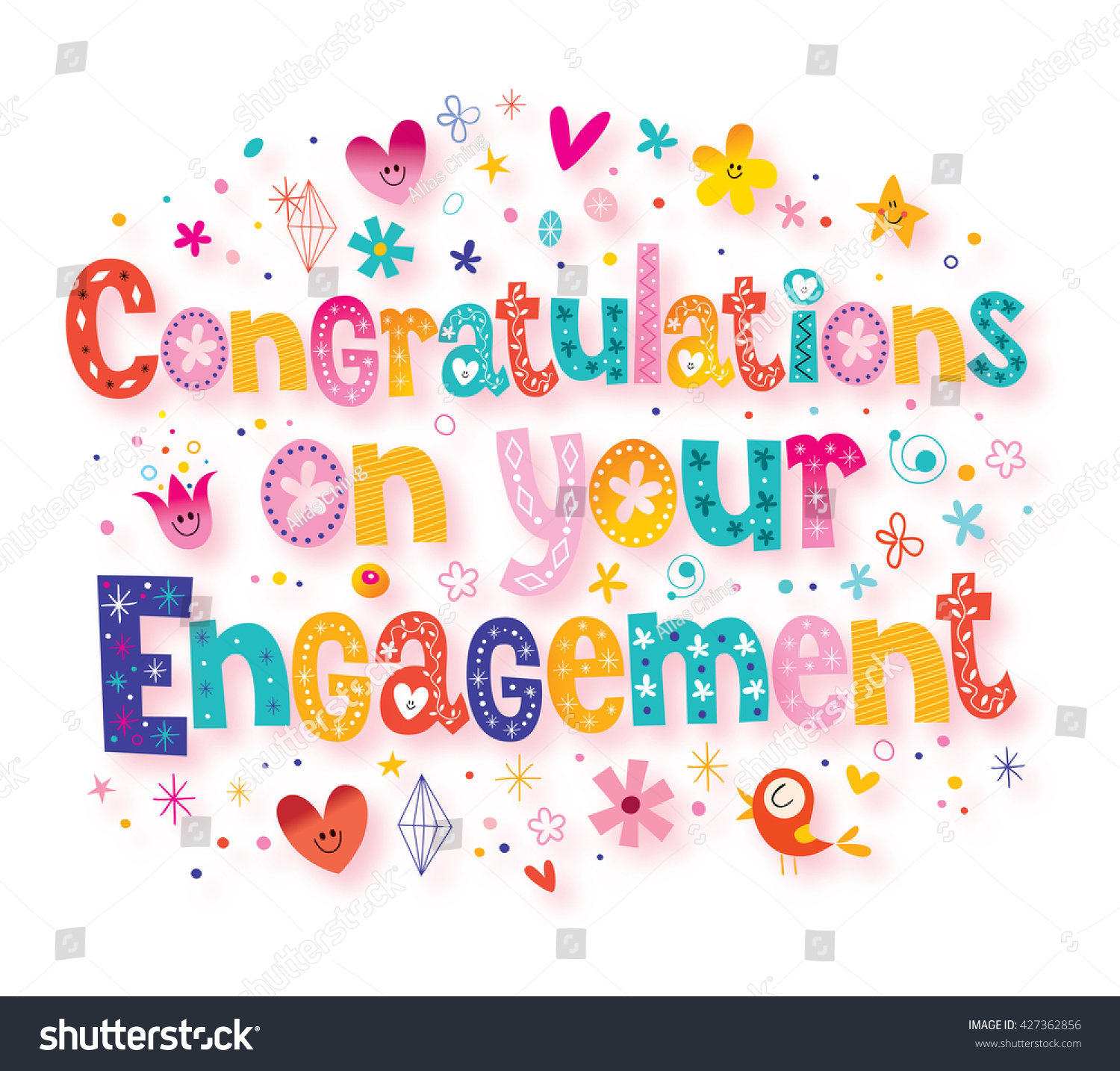 Congratulations on your engagement greeting card ez canvas id 427362856 m4hsunfo