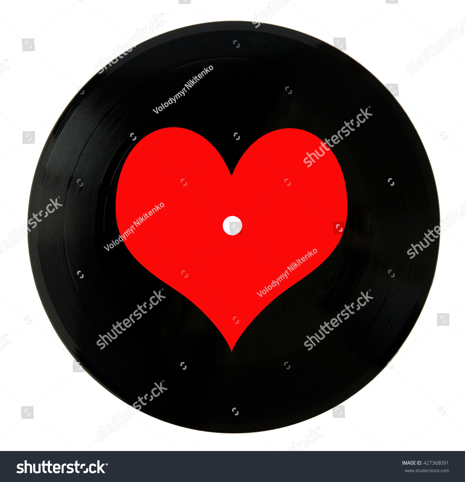 Valentines Day Vinyl Record Isolated On Stock Photo Edit Now