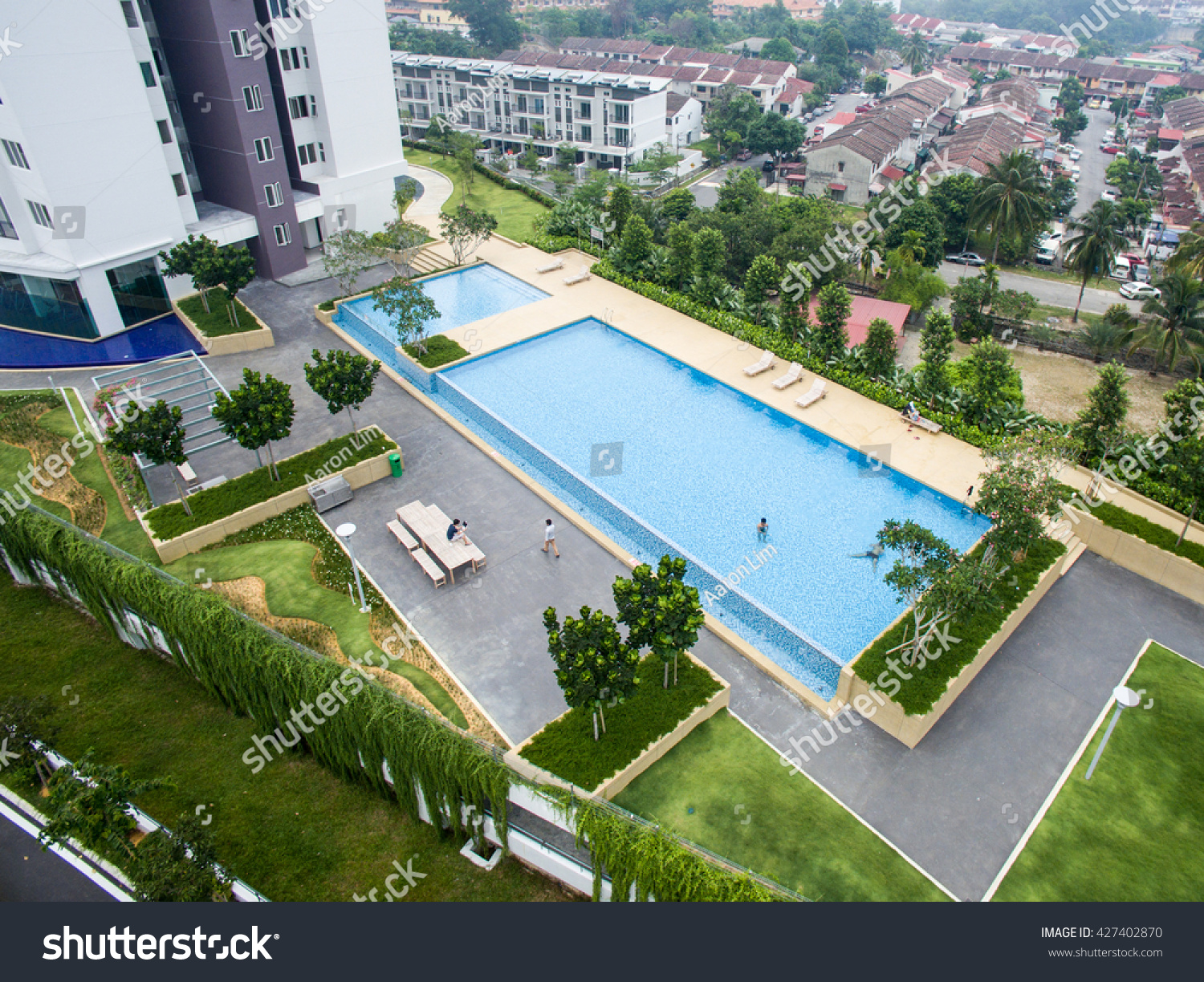 rectangle pool aerial view - Rectangle Pool Aerial View