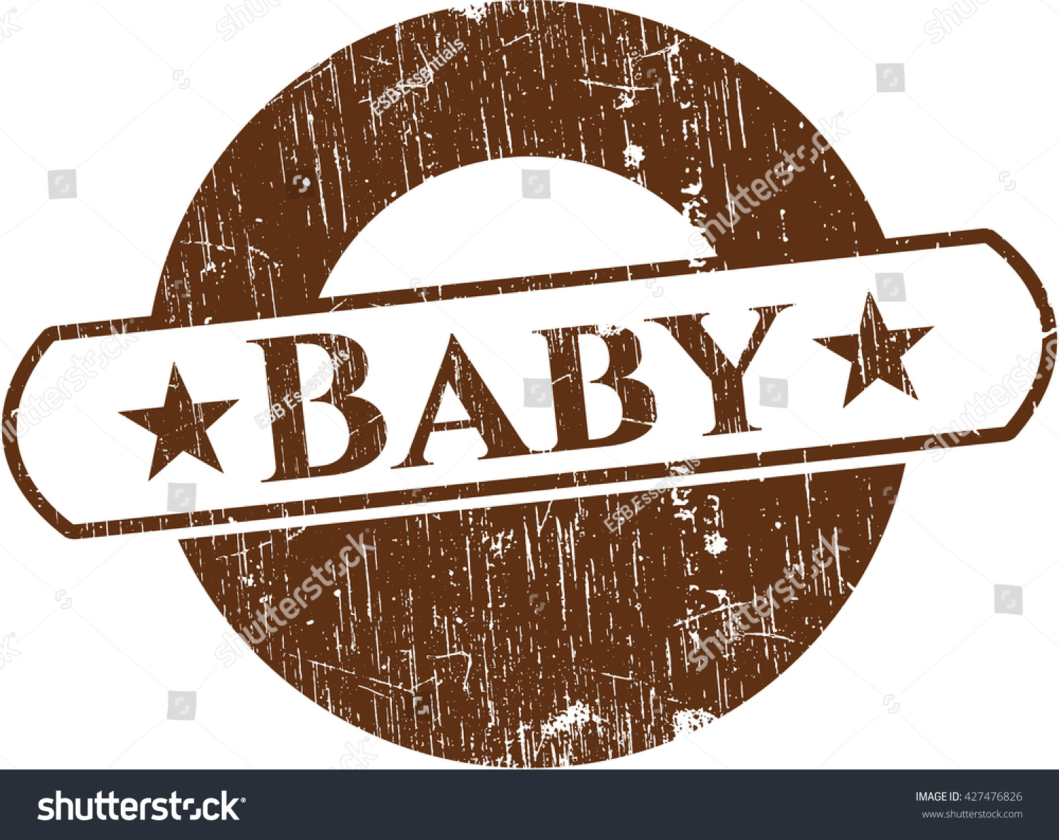 Baby Rubber Grunge Texture Seal Stock Vector (Royalty Free ...
