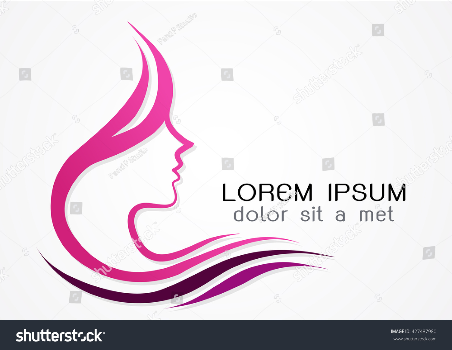 Beauty woman face logo design template stock vector for Abstract beauty salon