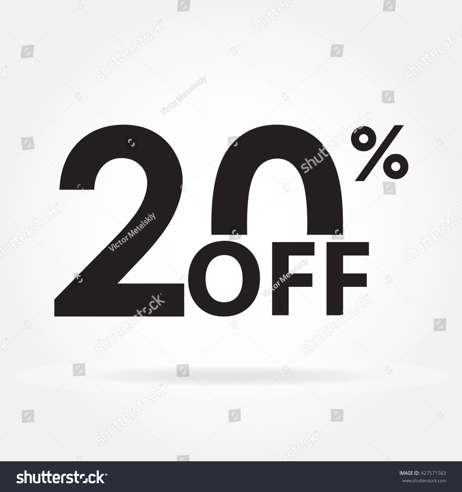 20 off sale discount price sign stock illustration 427571563