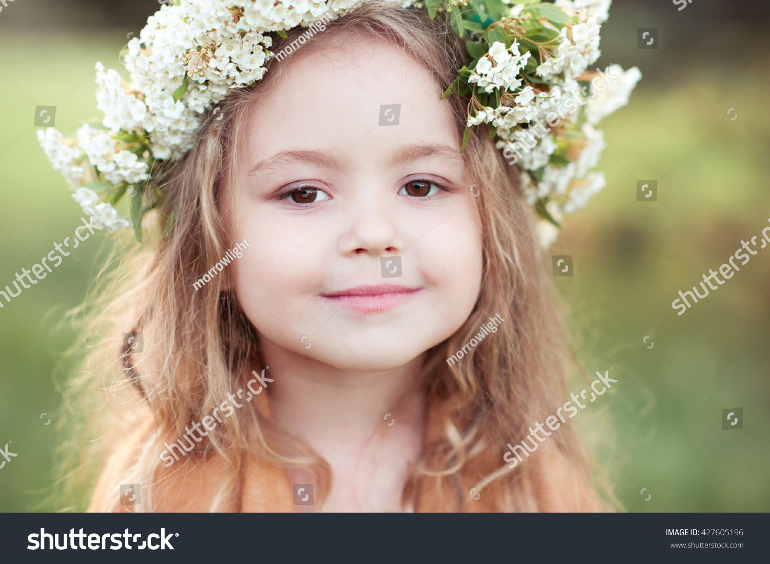 cute kid girl 45 year old stock photo & image (royalty-free
