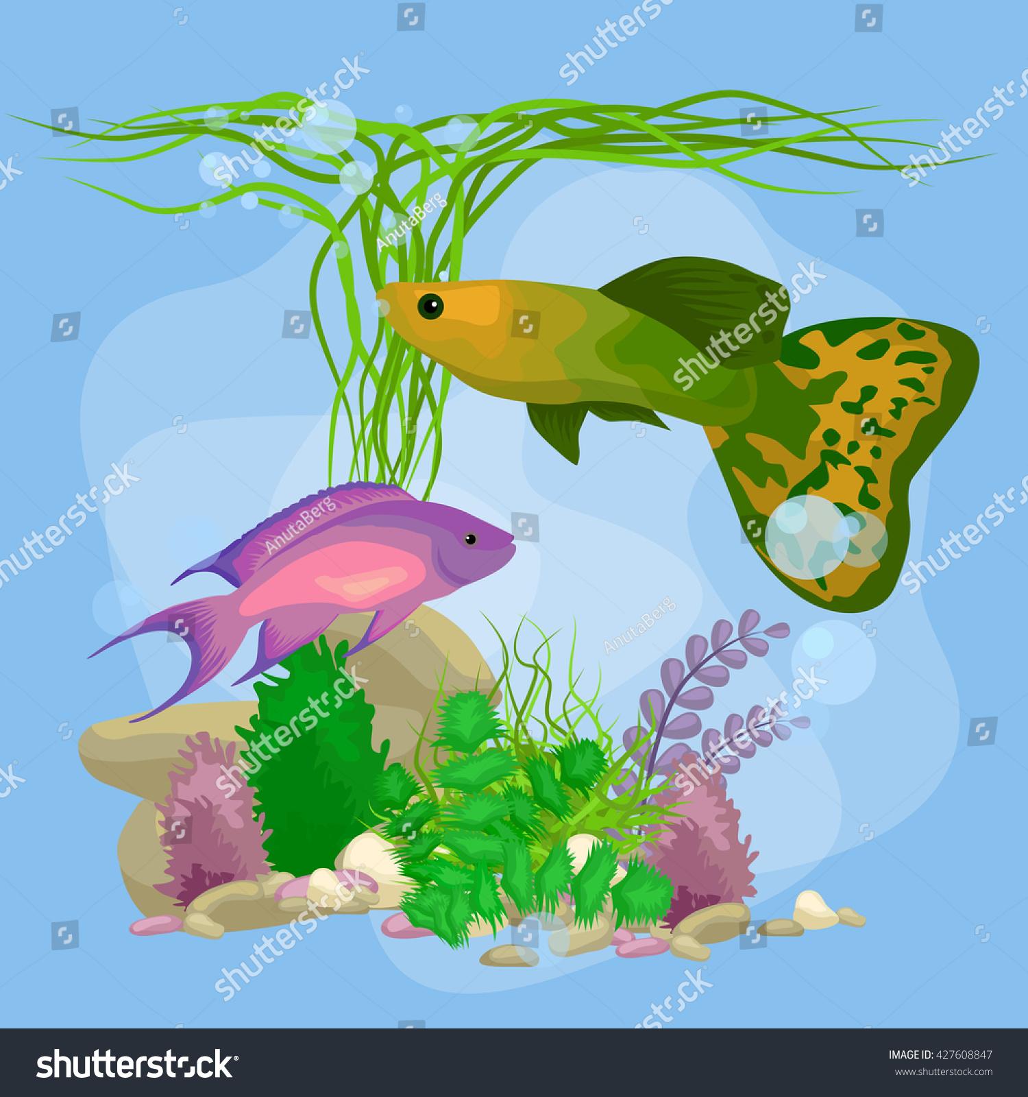 with decoration aquariums ferns decor aquaone reef aquarium cor natural freshwater d indoor new from effect itm coral