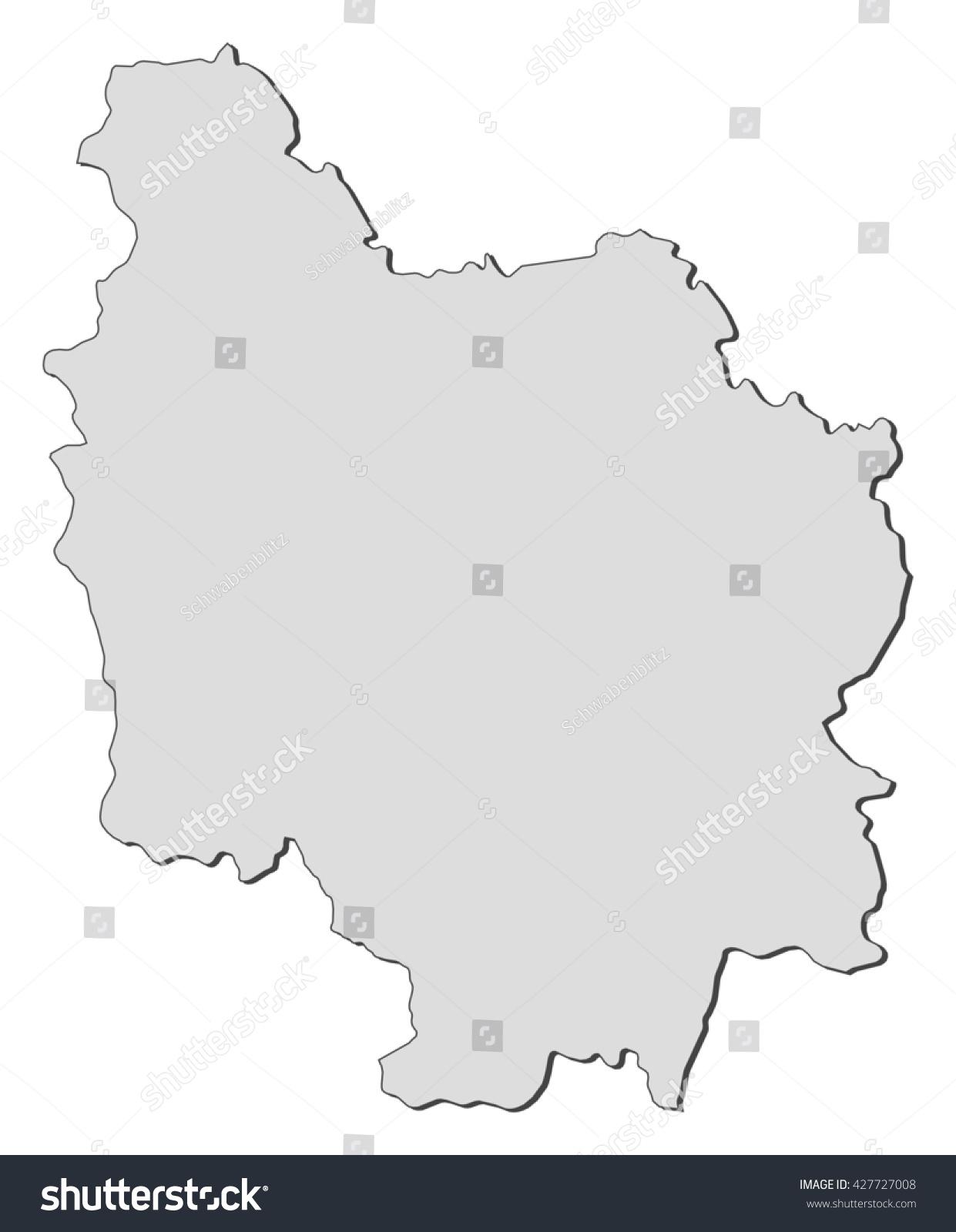 Map Burgundy France Stock Vector Royalty Free 427727008 Shutterstock