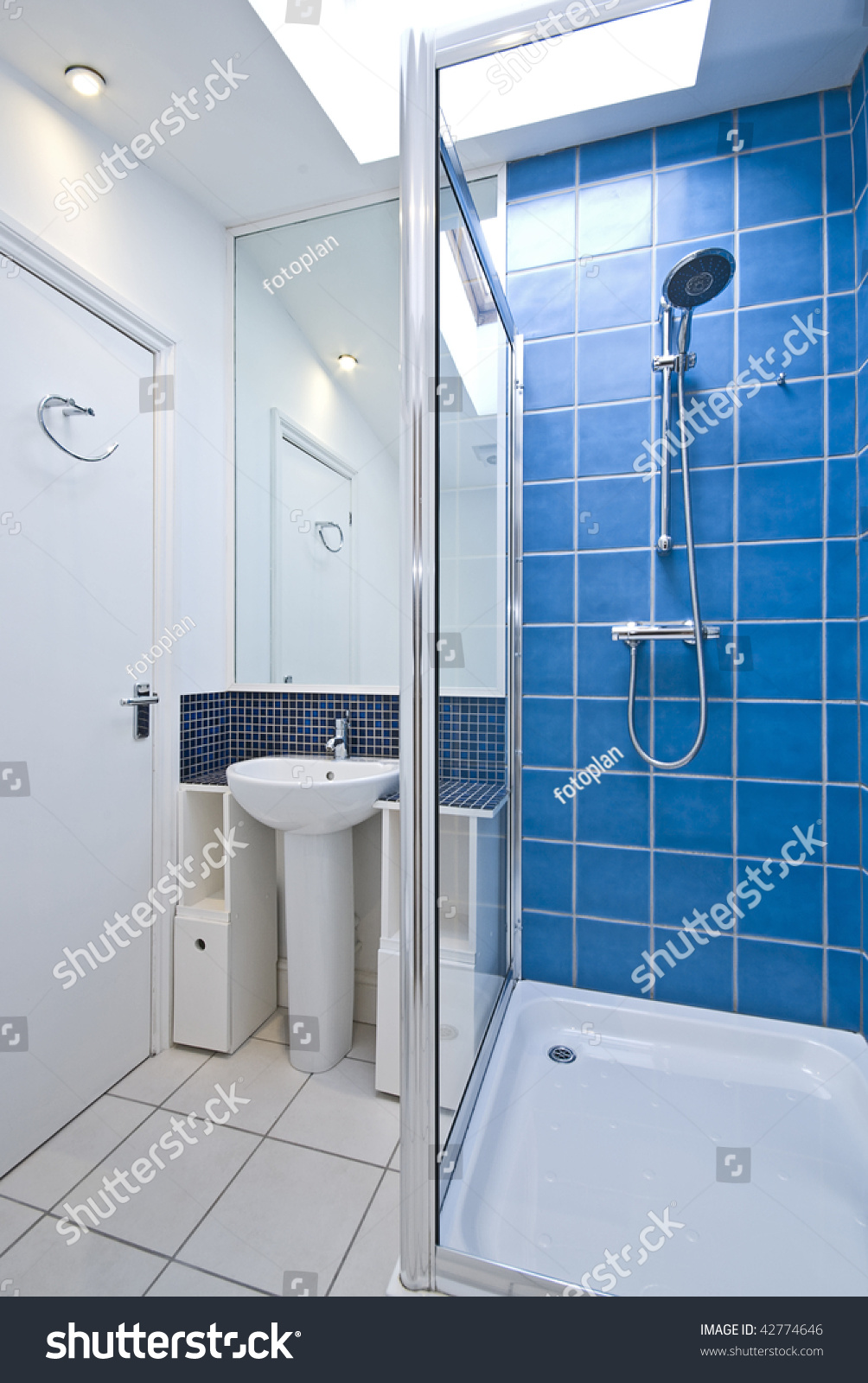 Modern Luxury Suite Bathroom Shower Roof Stock Photo (Royalty Free ...