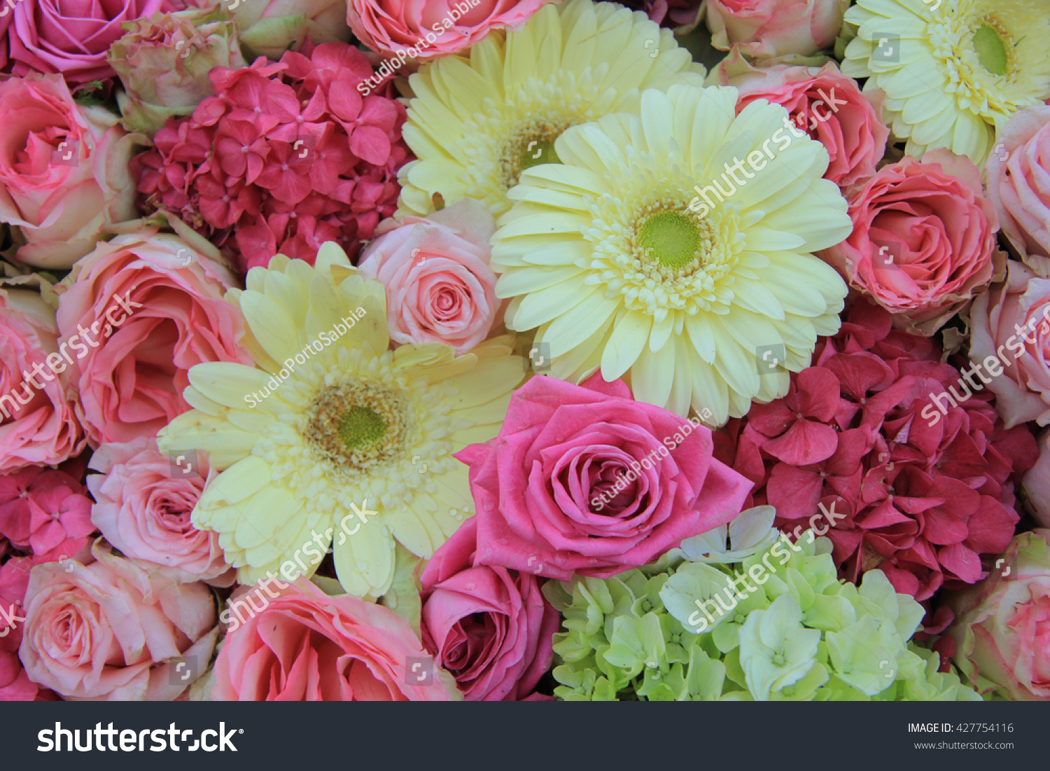 Yellow And Pink Wedding Flower Arrangement Ez Canvas