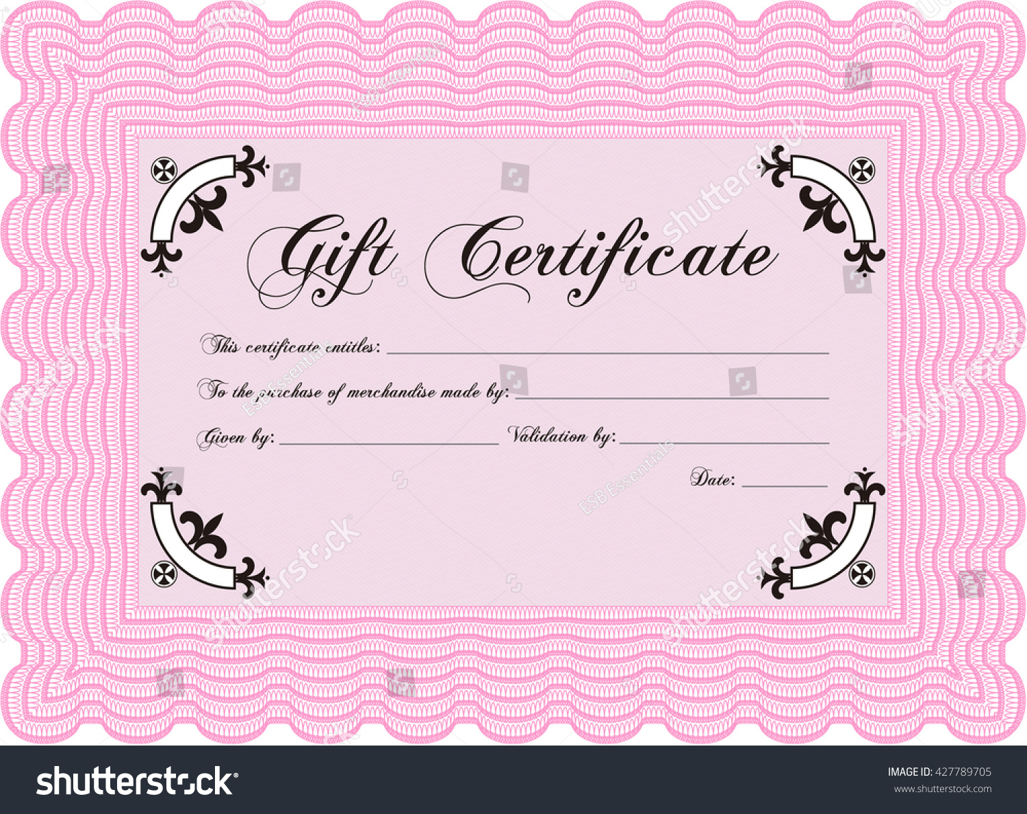 Vector gift certificate template vector illustration stock vector vector gift certificate template vector illustration excellent complex design with complex linear background yadclub Gallery