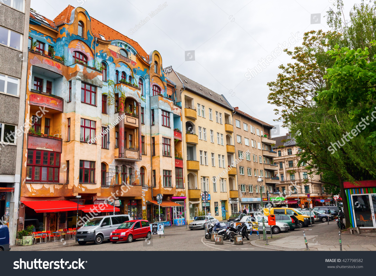 berlin germany may 17 2016 street stock photo 427798582 shutterstock. Black Bedroom Furniture Sets. Home Design Ideas