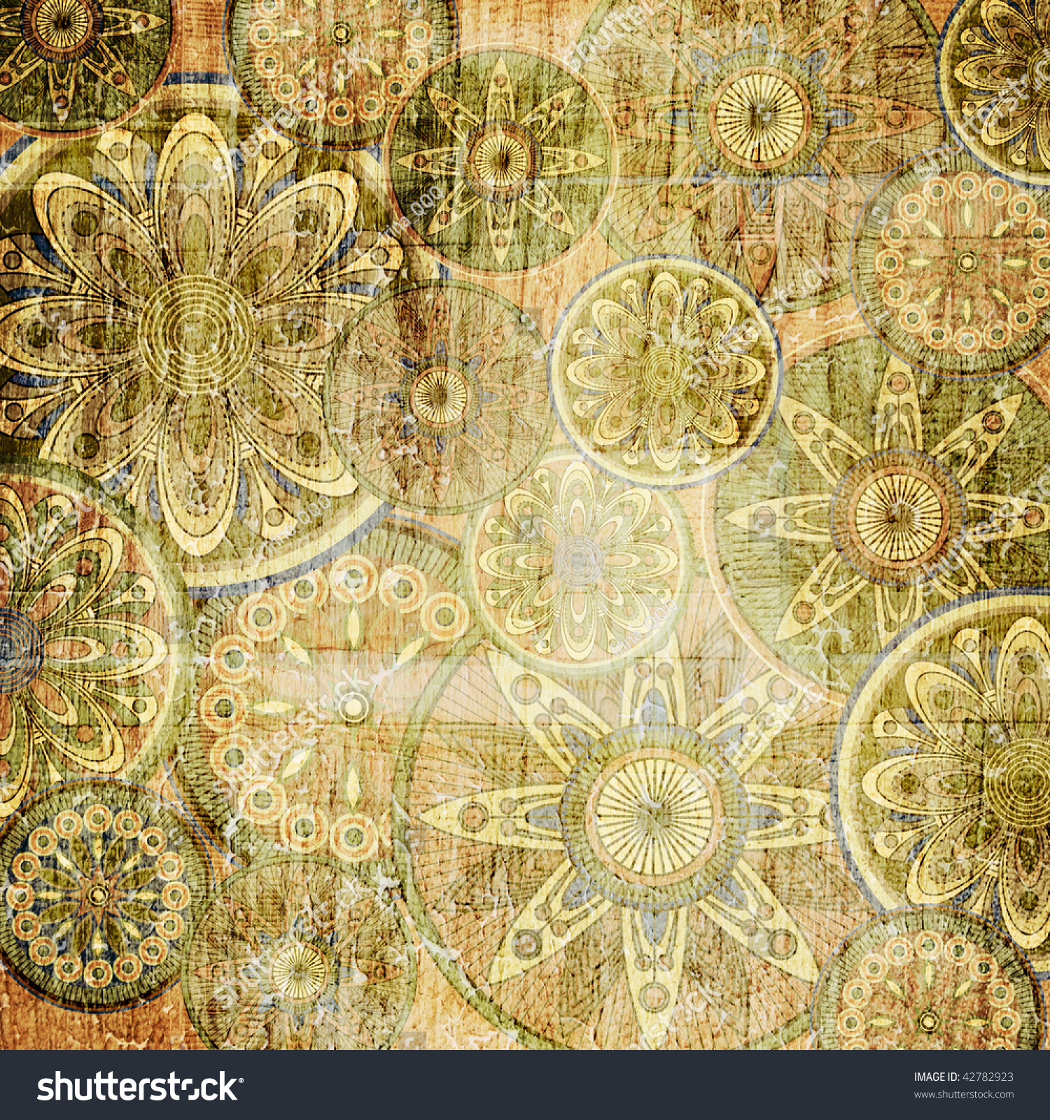 art vintage stylization floral background in sepia | EZ Canvas