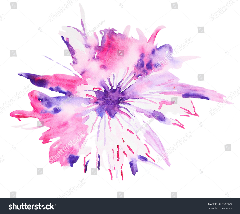 Abstract watercolor flower beautiful watercolor flowers stock abstract watercolor flower beautiful watercolor flowers on white background perfect for wedding invitations izmirmasajfo