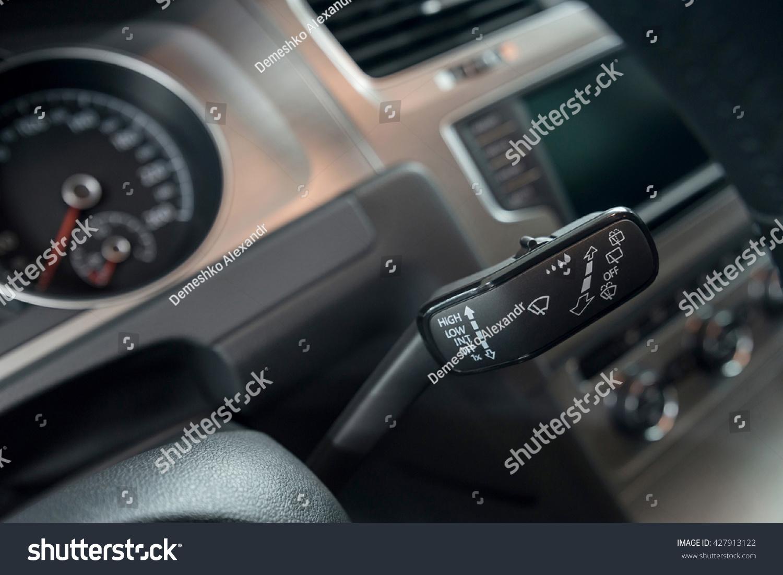 Car interior photos - Modern Car Interior Background Wipers Control