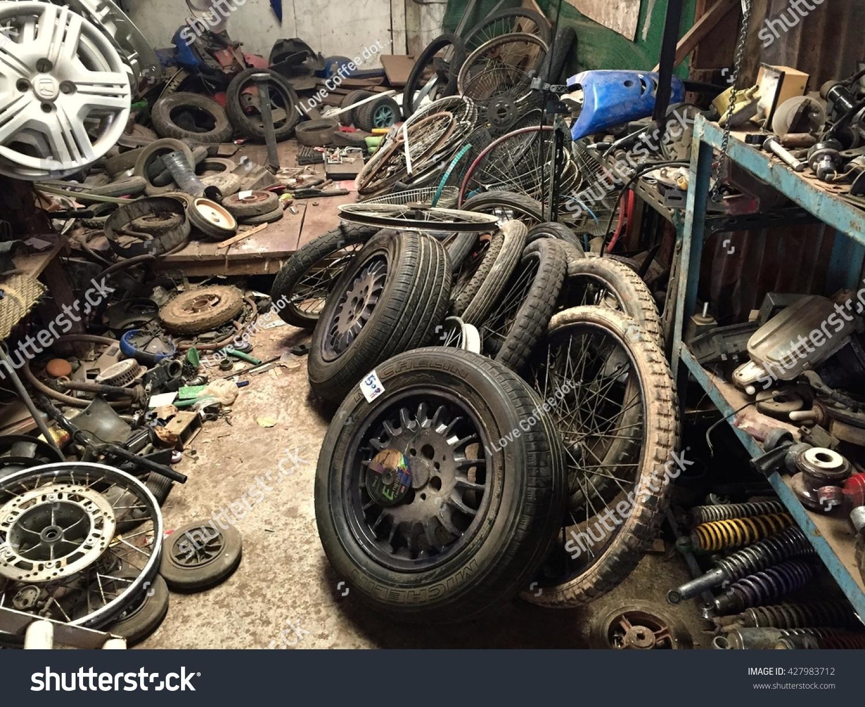 Bangkokthailandmay 292016old Tires Used Car Tires Stock Photo ...