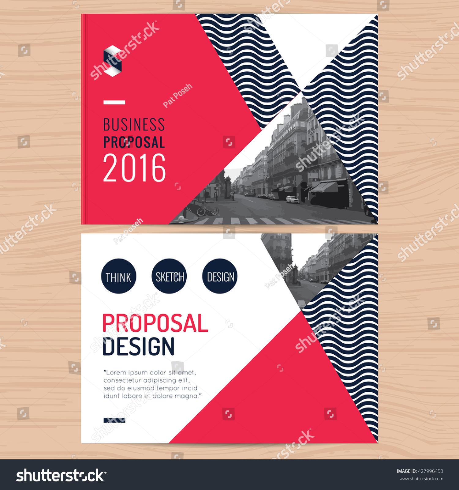 Modern clean business proposal company profile stock vector modern clean business proposal company profile annual report template design with red abstract background vector flashek Images