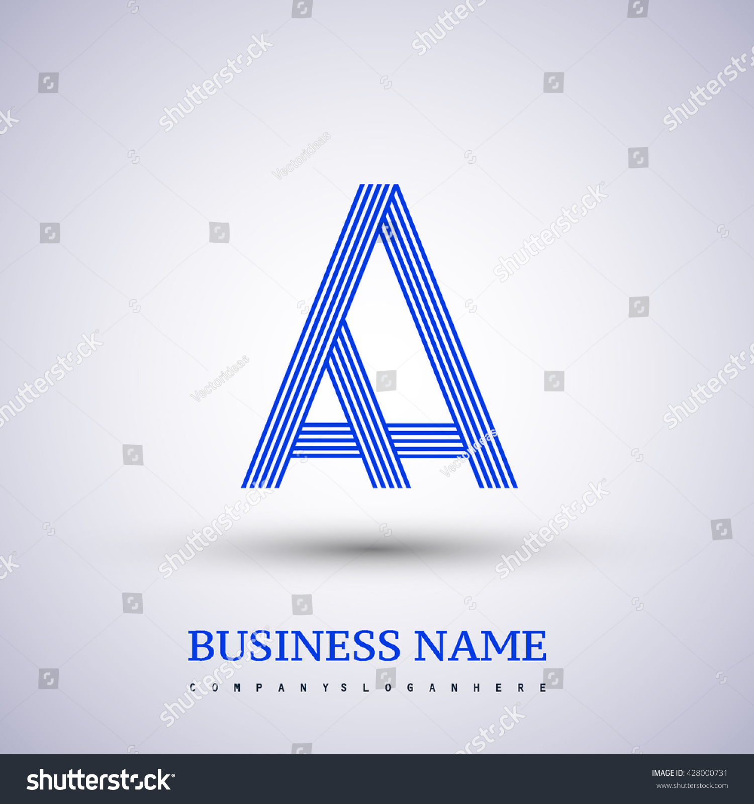 Letter aa linked logo design symbol stock vector 428000731 letter aa linked logo design symbol for your business or company identity buycottarizona