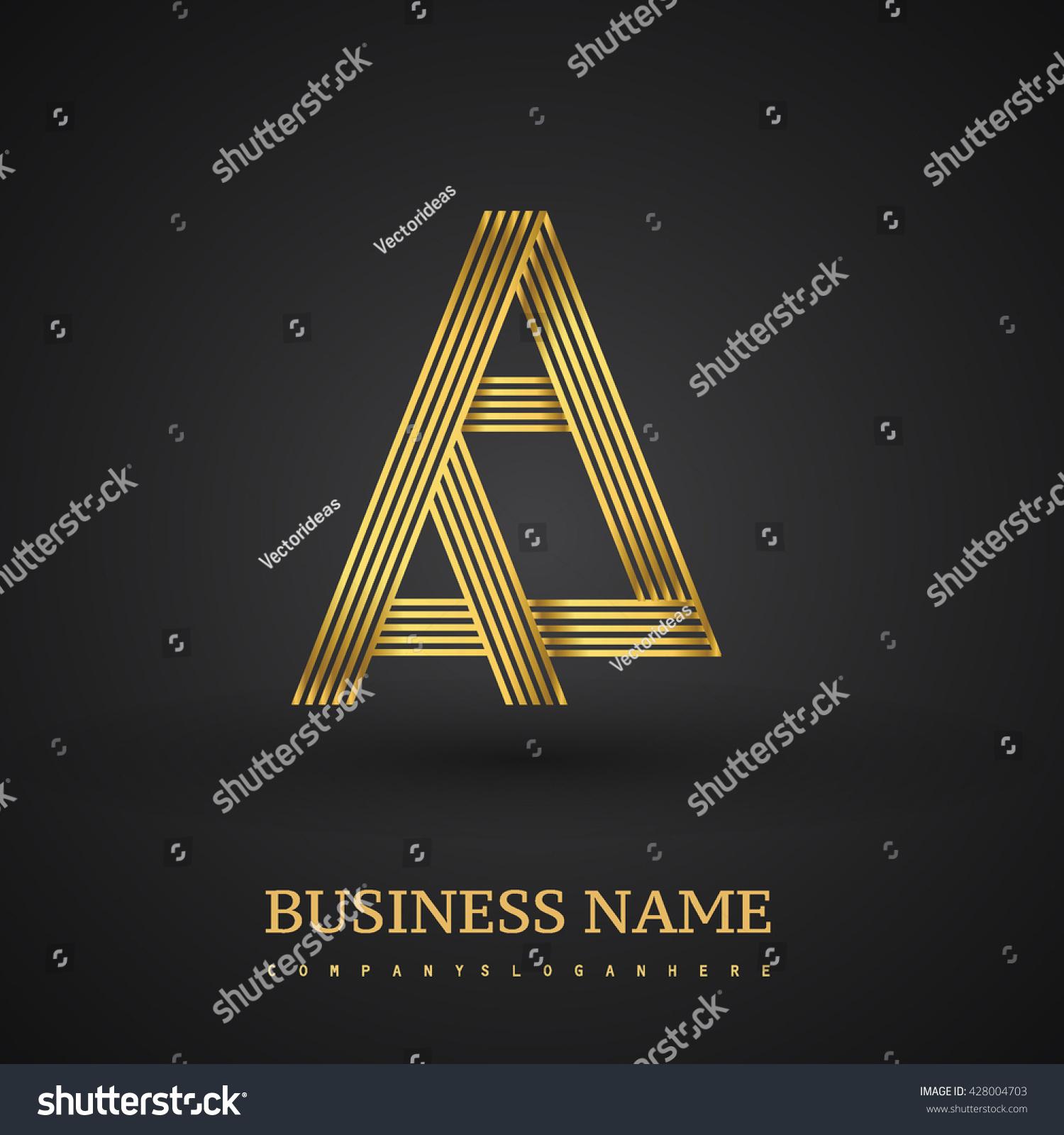 Letter aa linked logo design elegant stock vector 428004703 letter aa linked logo design elegant golden colored symbol for your business or company identity buycottarizona