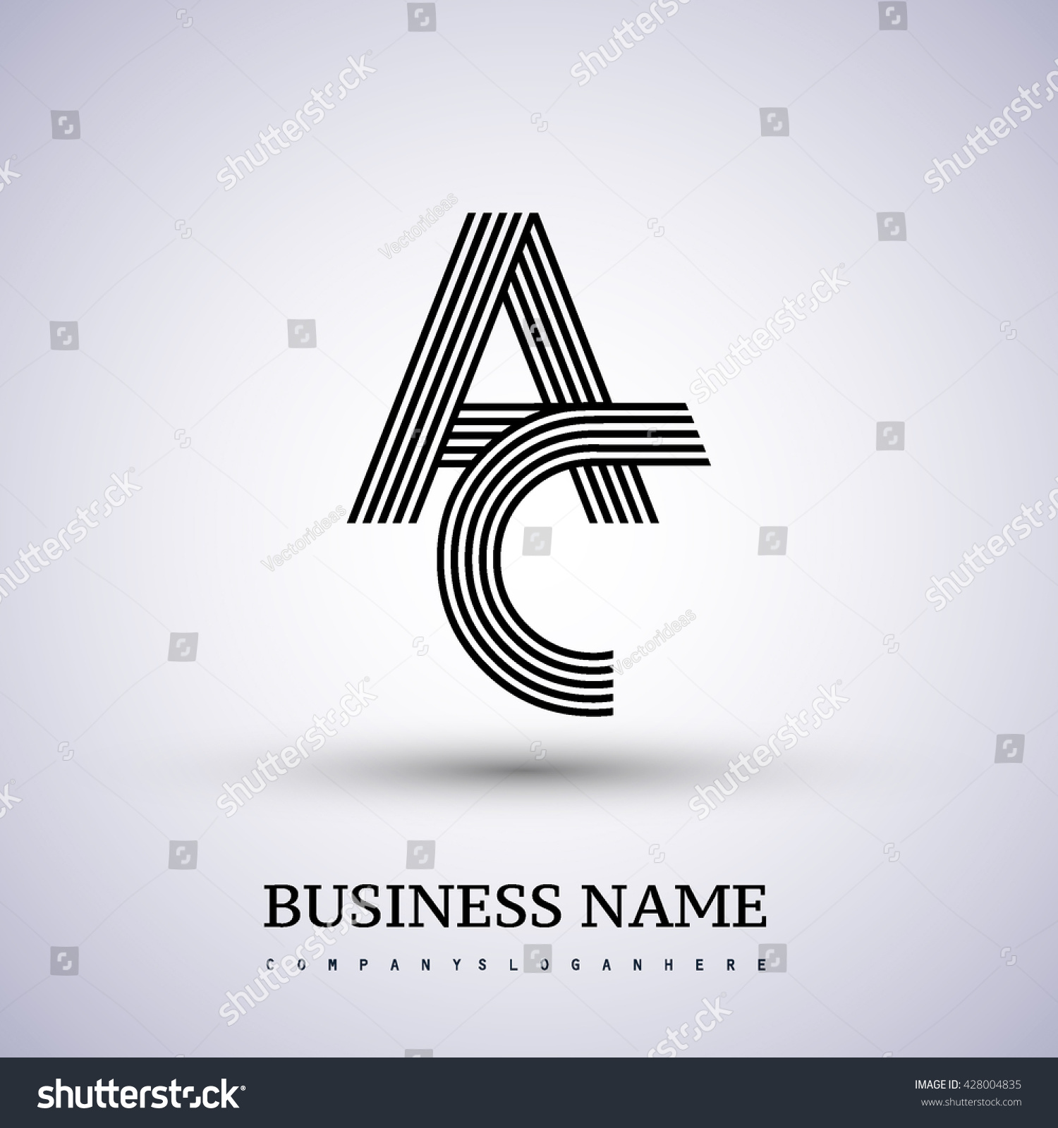 Letter AC Linked Logo Design Elegant Stock Vector 428004835 ...