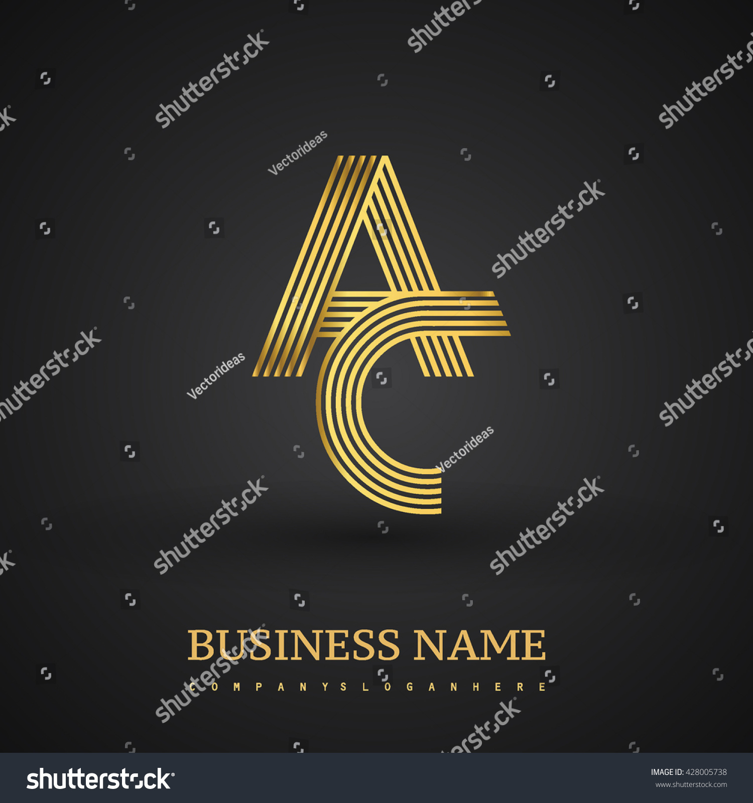 Letter Ac Linked Logo Design Elegant Stock Photo (Photo, Vector ...