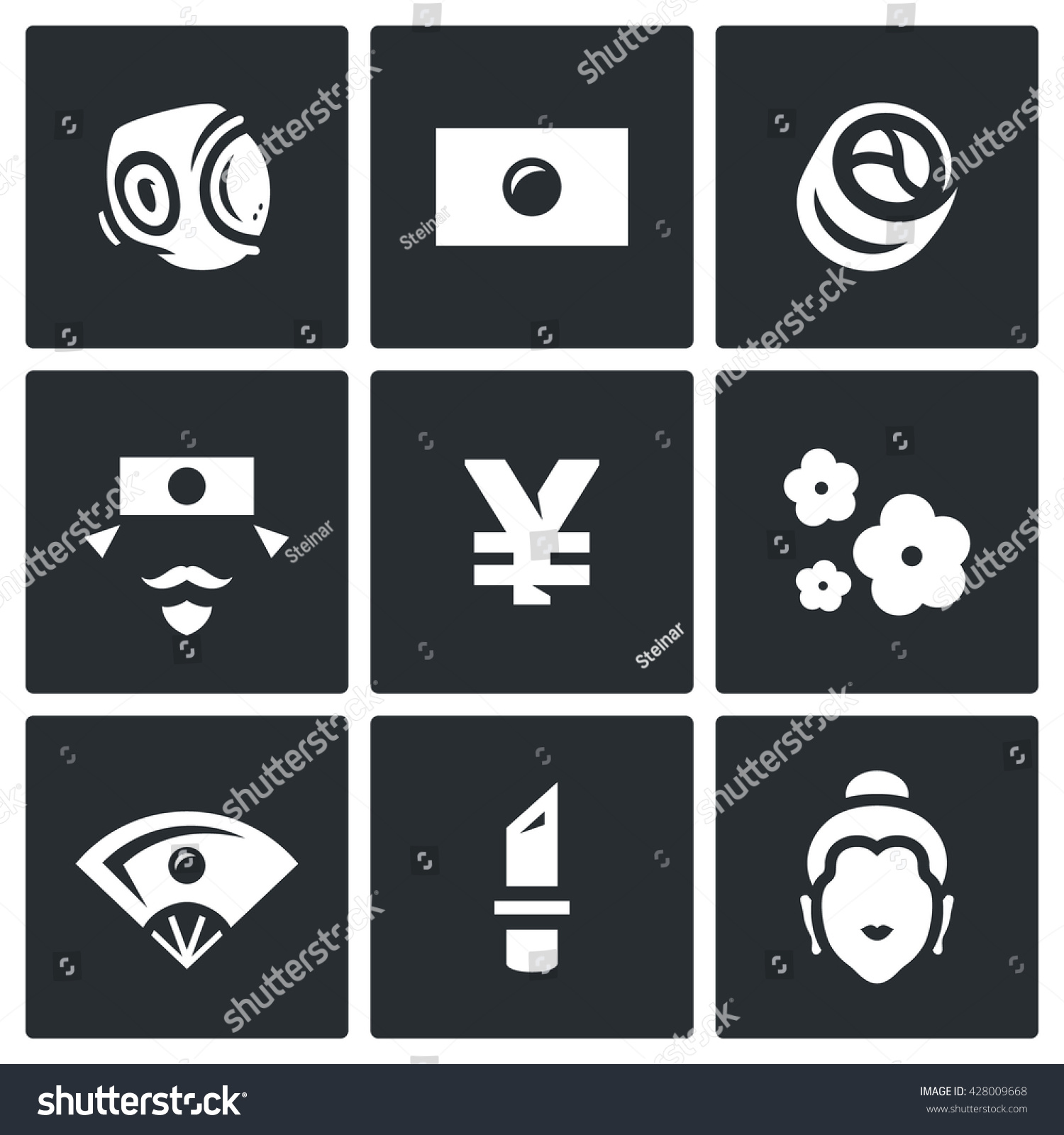 Vector set japan icons sport national stock vector 428009668 vector set of japan icons sport national flag traditional food japanese biocorpaavc