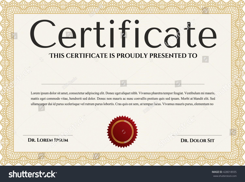 Nice certificate templates fotos58 templates nice looking free certificate template easy print nice design stock vector 428018935 xflitez Gallery