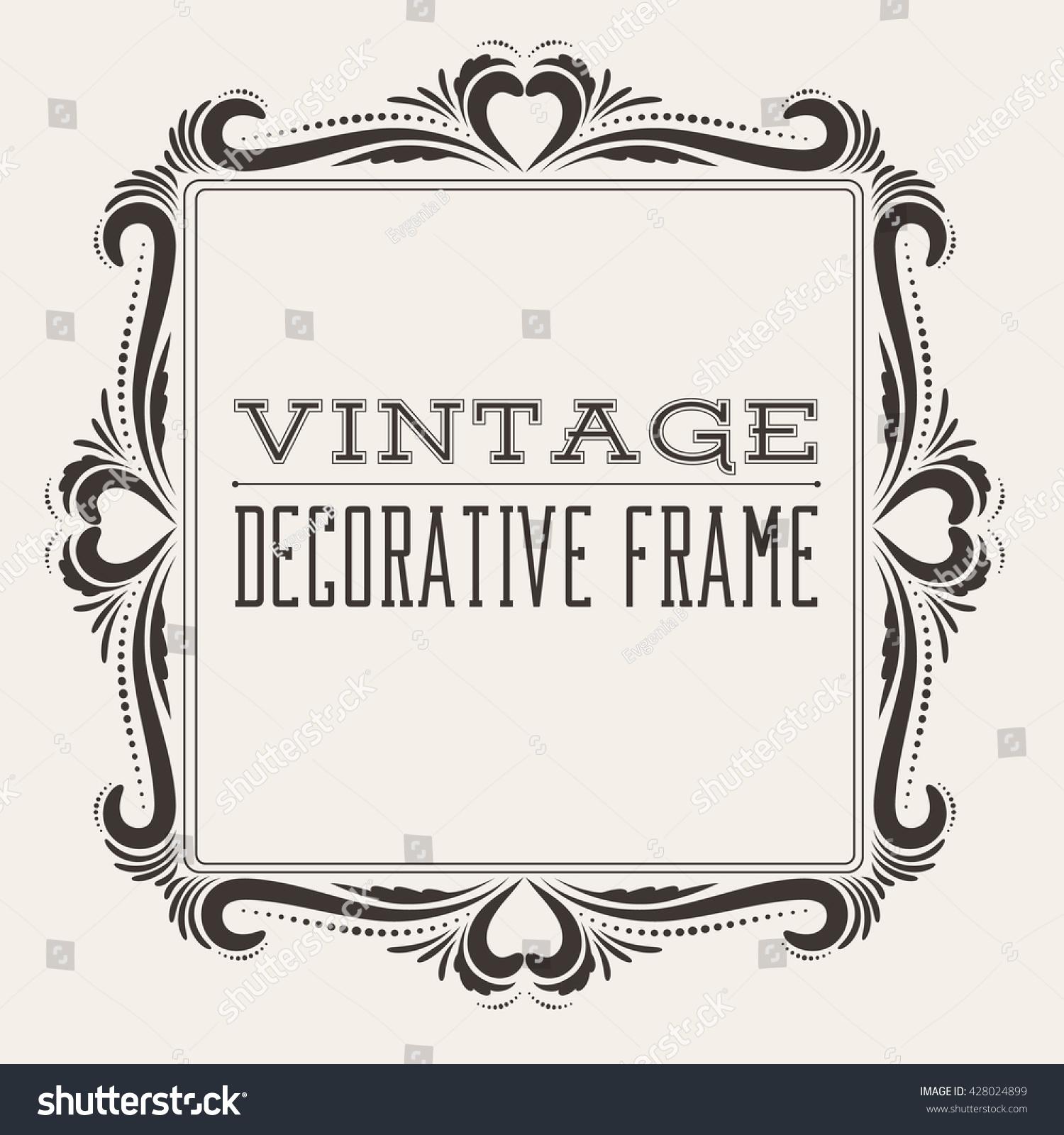 Square Vintage Ornate ...