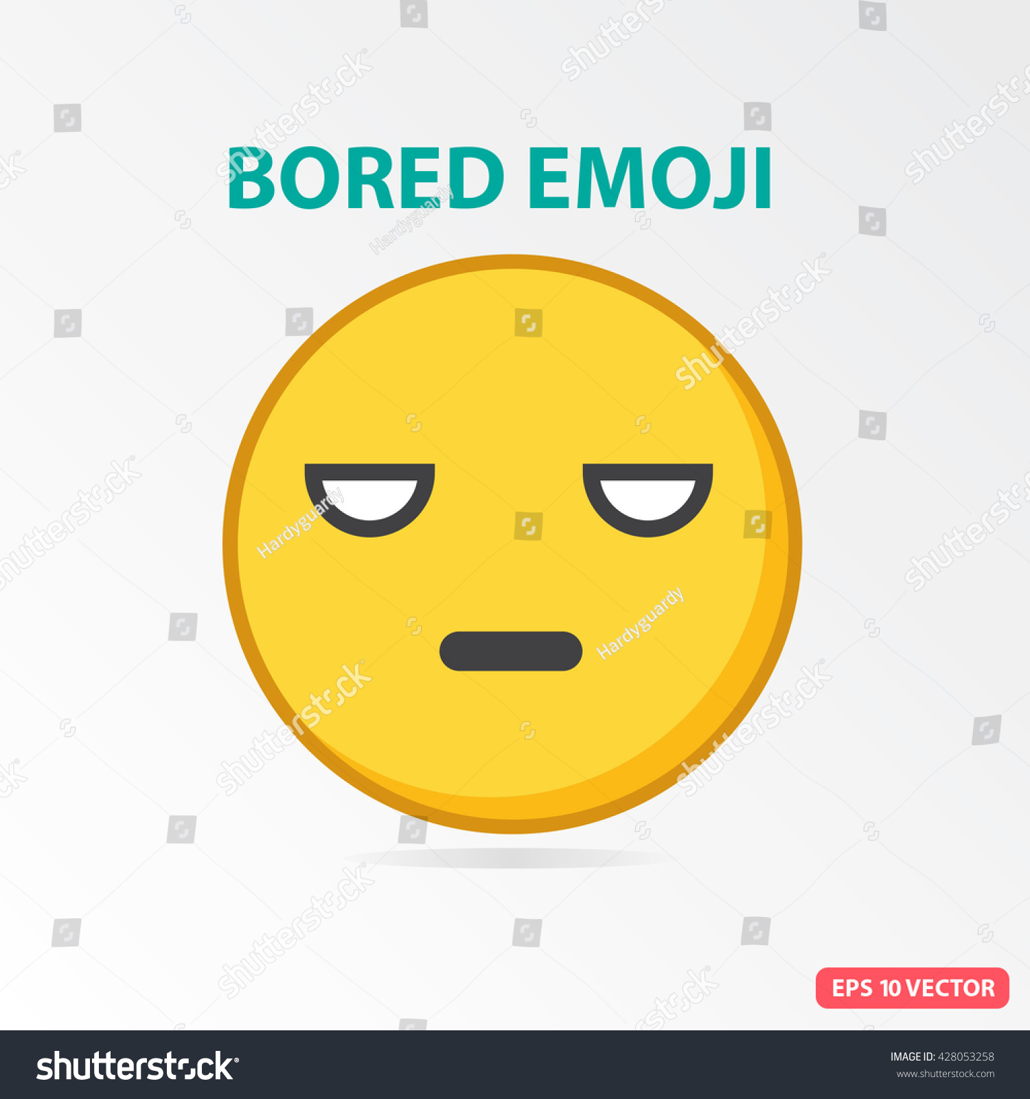 S Ingle Bored Emoji Isolated Vector Illustration Vector de ...