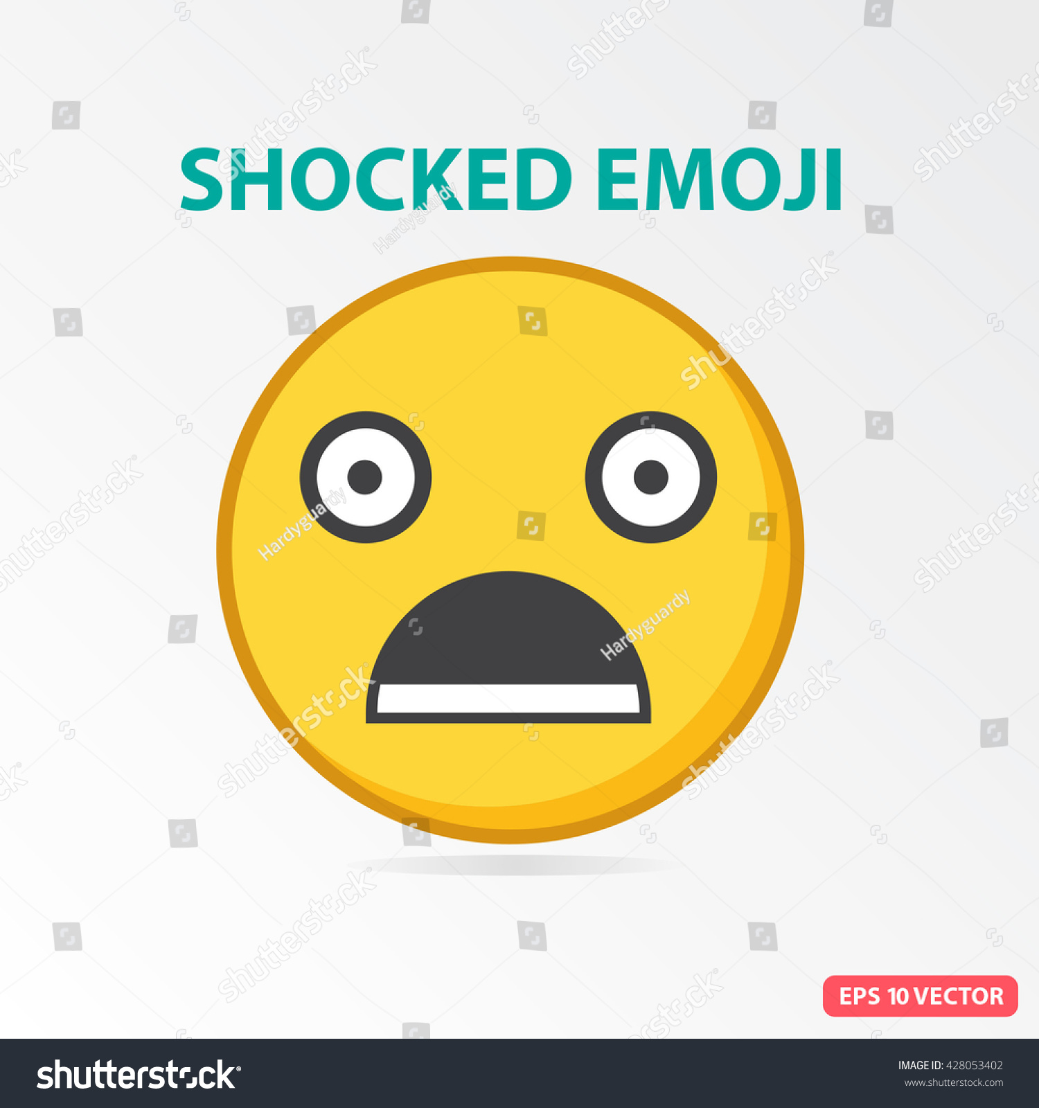 S Ingle Shocked Emoji Isolated Vector Illustration Vector de ...