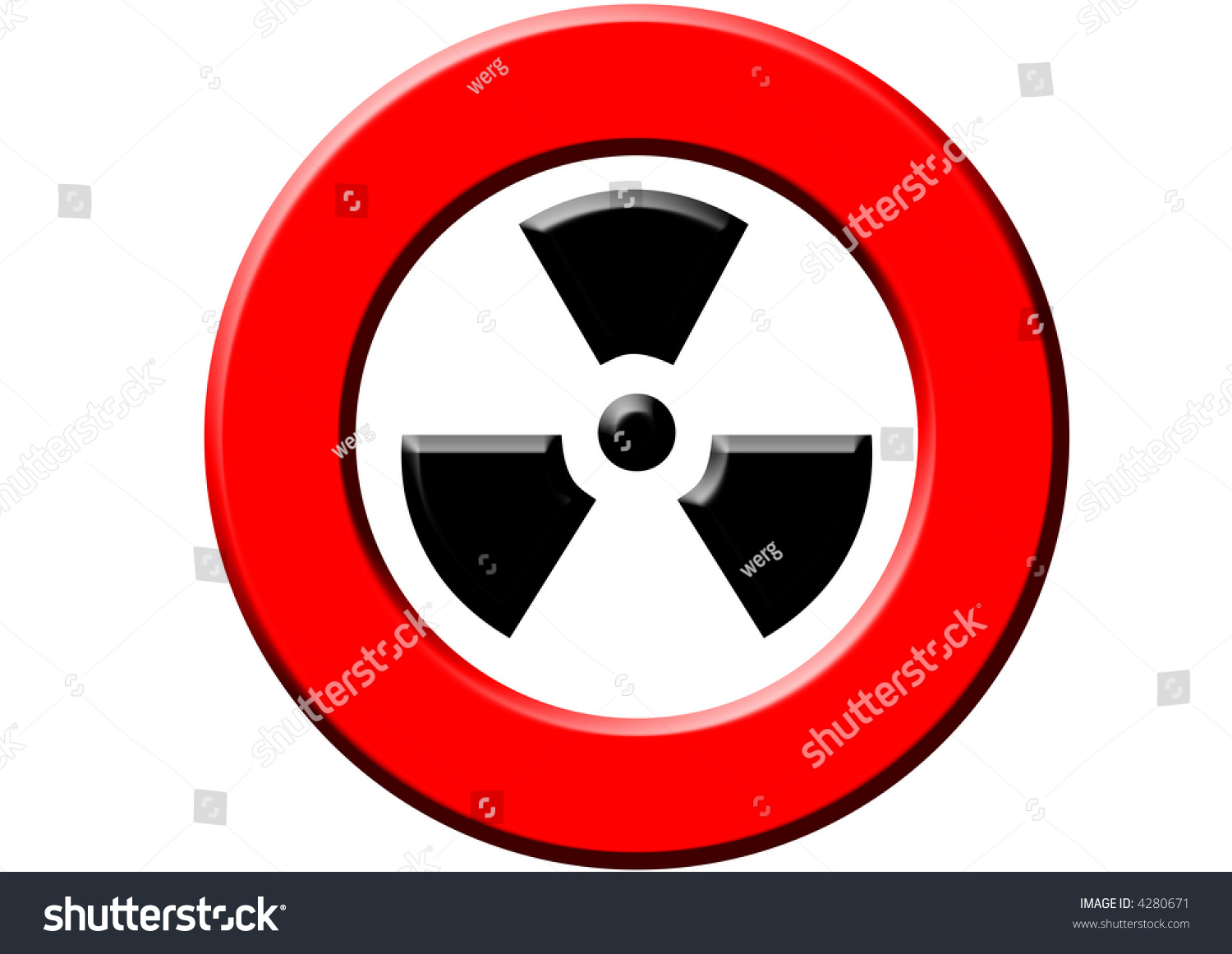 Red Sign Meaning Warning Radioactivity On Stock Illustration 4280671