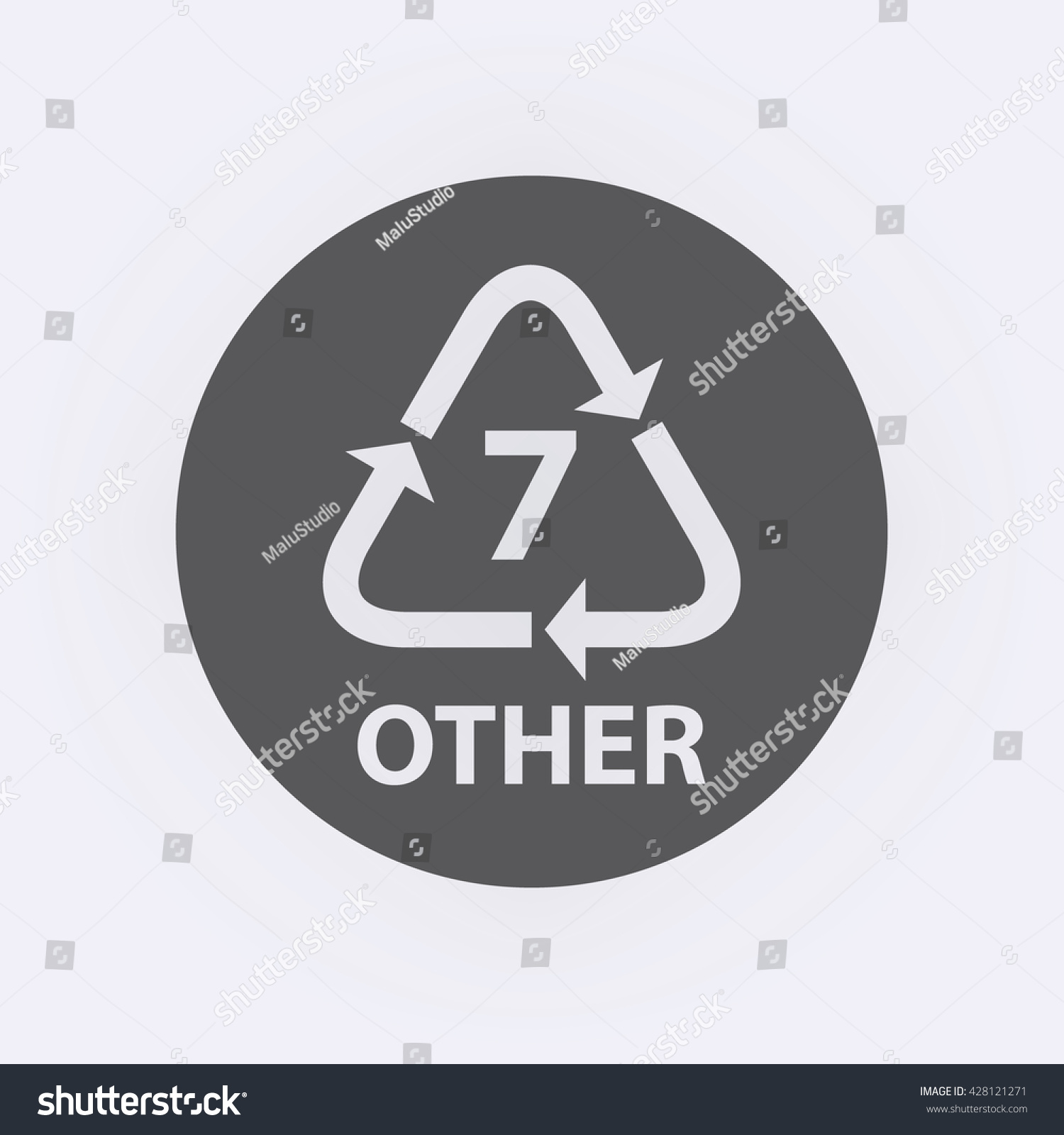 Plastic Recycling Symbol Other 7 Vector Stock Vector 428121271