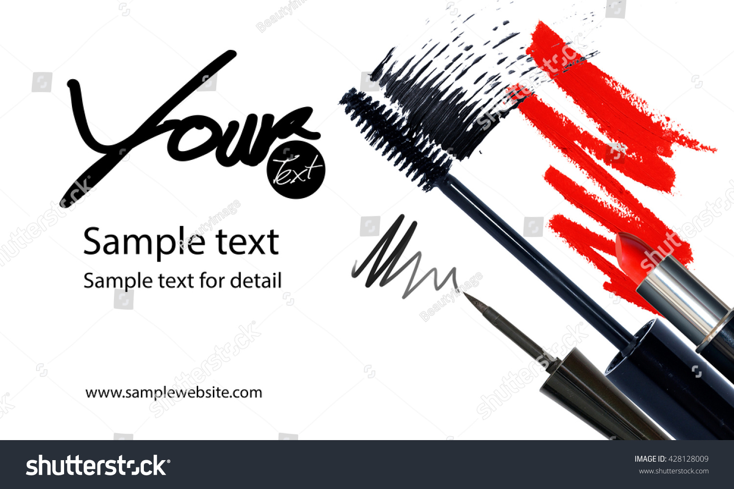 Royalty-free Makeup artist business card template… #428128009 ...
