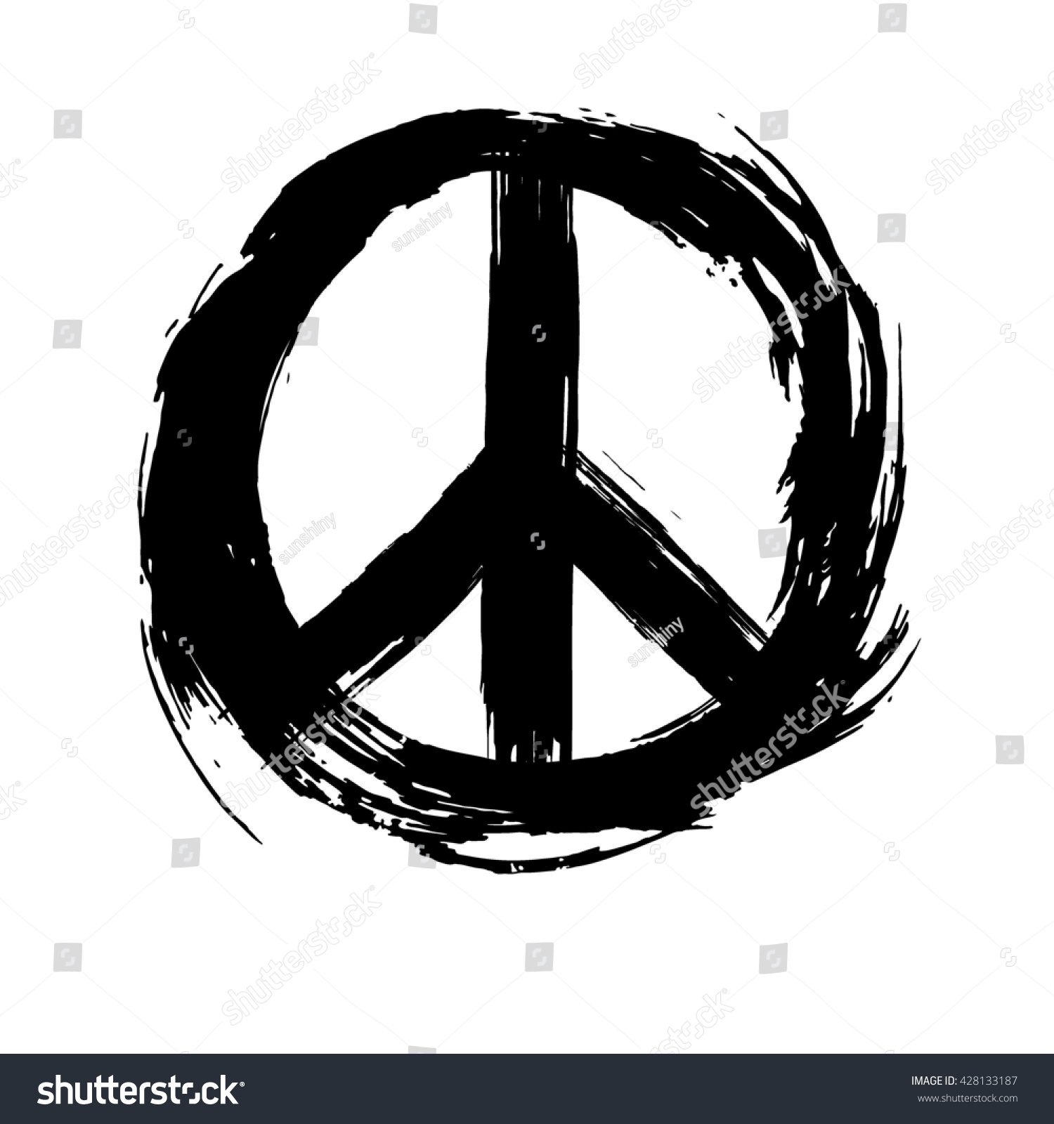 peace symbol peace hippie symbol stock illustration 428133187