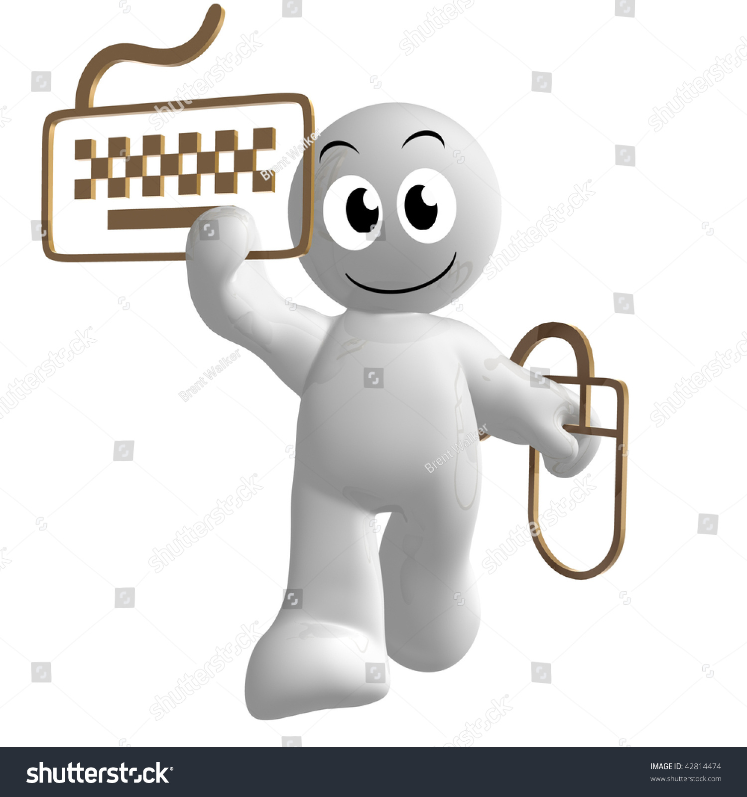 Funny 3d icon keyboard mouse symbol stock illustration 42814474 funny 3d icon with keyboard and mouse symbol buycottarizona Image collections