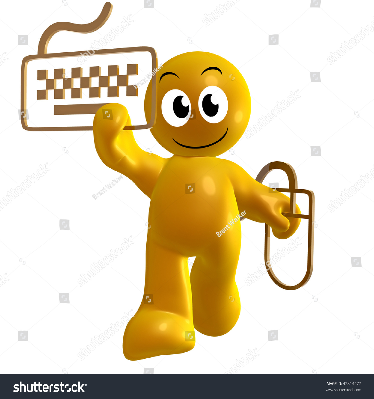 Funny 3d icon keyboard mouse symbol stock illustration 42814477 funny 3d icon with keyboard and mouse symbol biocorpaavc