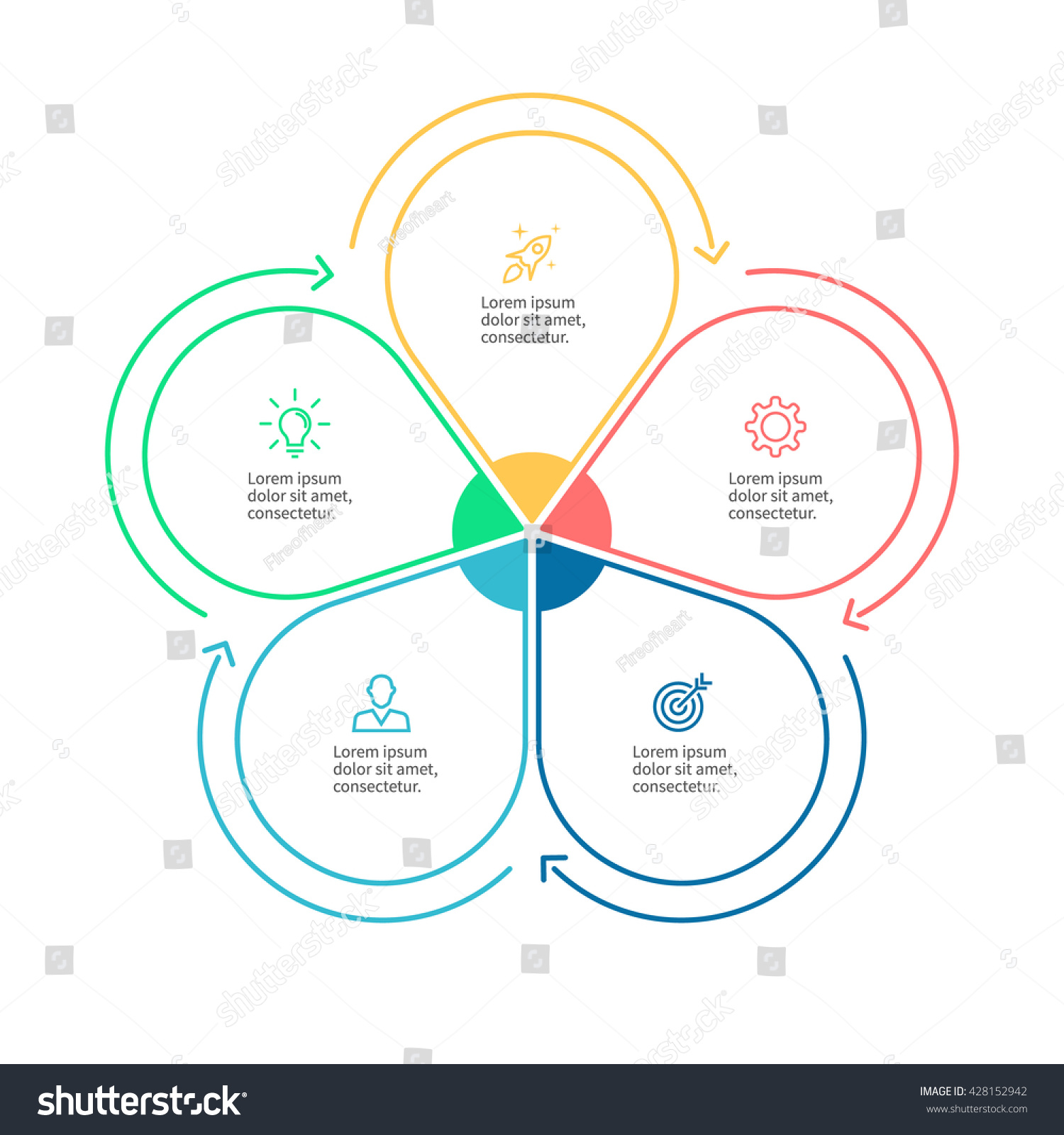 Outline circular infographic minimalistic diagram chart em vetor outline circular infographic minimalistic diagram chart graph with 5 steps vector design ccuart