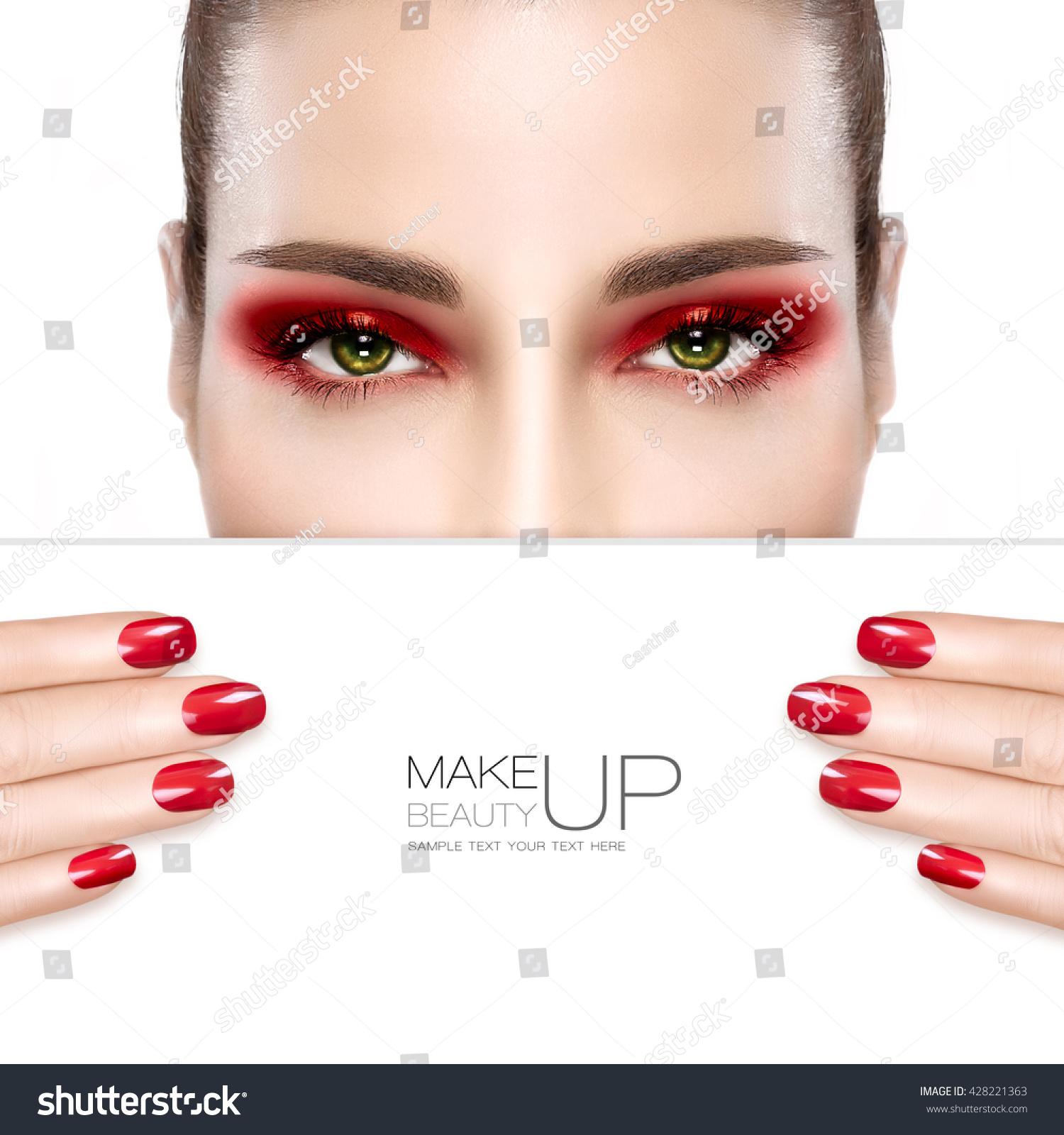 Beauty Makeup Nail Art Concept Beautiful Stock Photo (Royalty Free ...