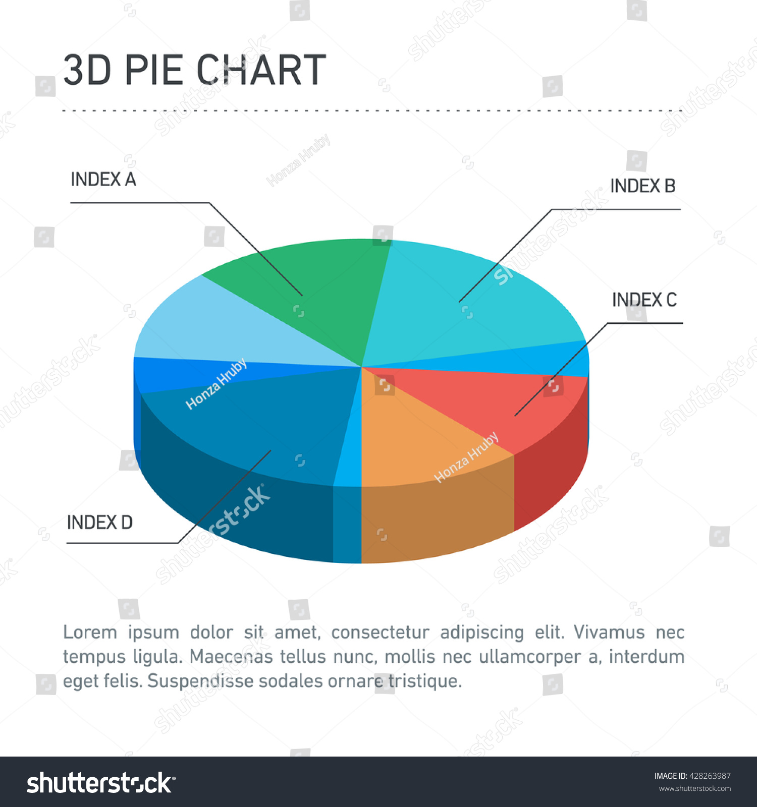 Conceptual infographic 3d pie chart modern stock vector 428263987 conceptual infographic 3d pie chart modern flat design illustration of infographics elements color on white nvjuhfo Choice Image
