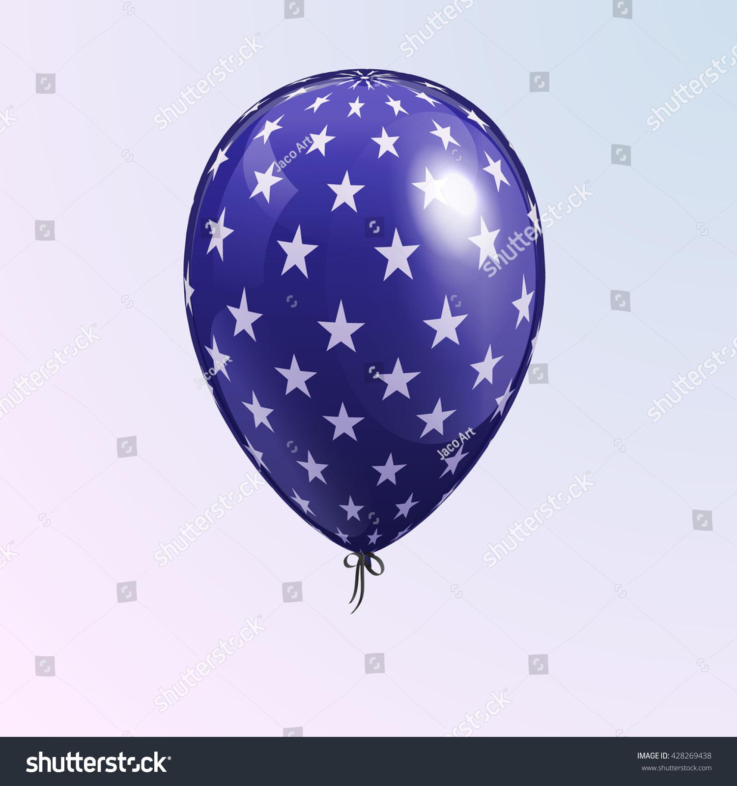 Realistic Balloon American Patriotic Symbols Stock Vector Hd