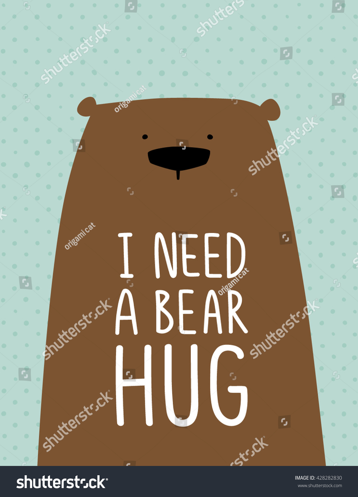 Funny Brown Bear Quote Need Bear Stock Vector Royalty Free