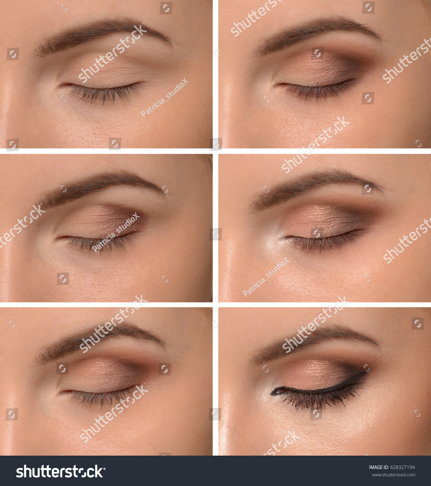 Step By Step Makeup Eyes Stock Photo Edit Now 428327194 Shutterstock