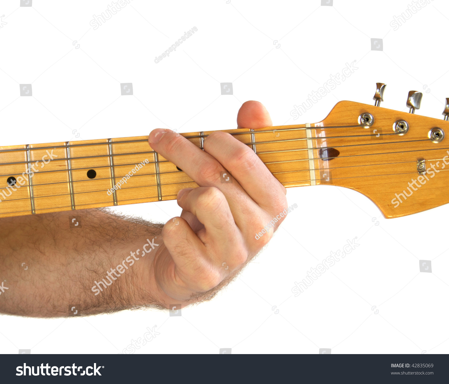 Demonstration How Play G Chord On Stock Photo Edit Now 42835069