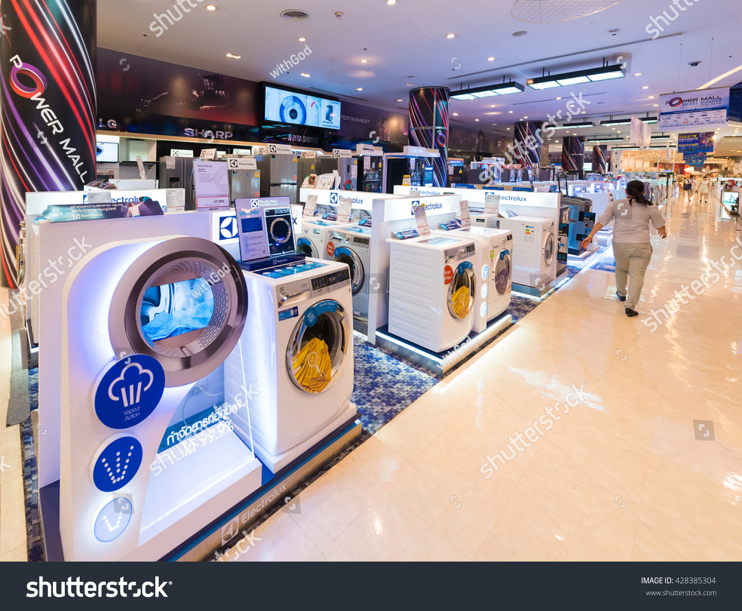 bangkok march 17 2016 washing machines stock photo. Black Bedroom Furniture Sets. Home Design Ideas