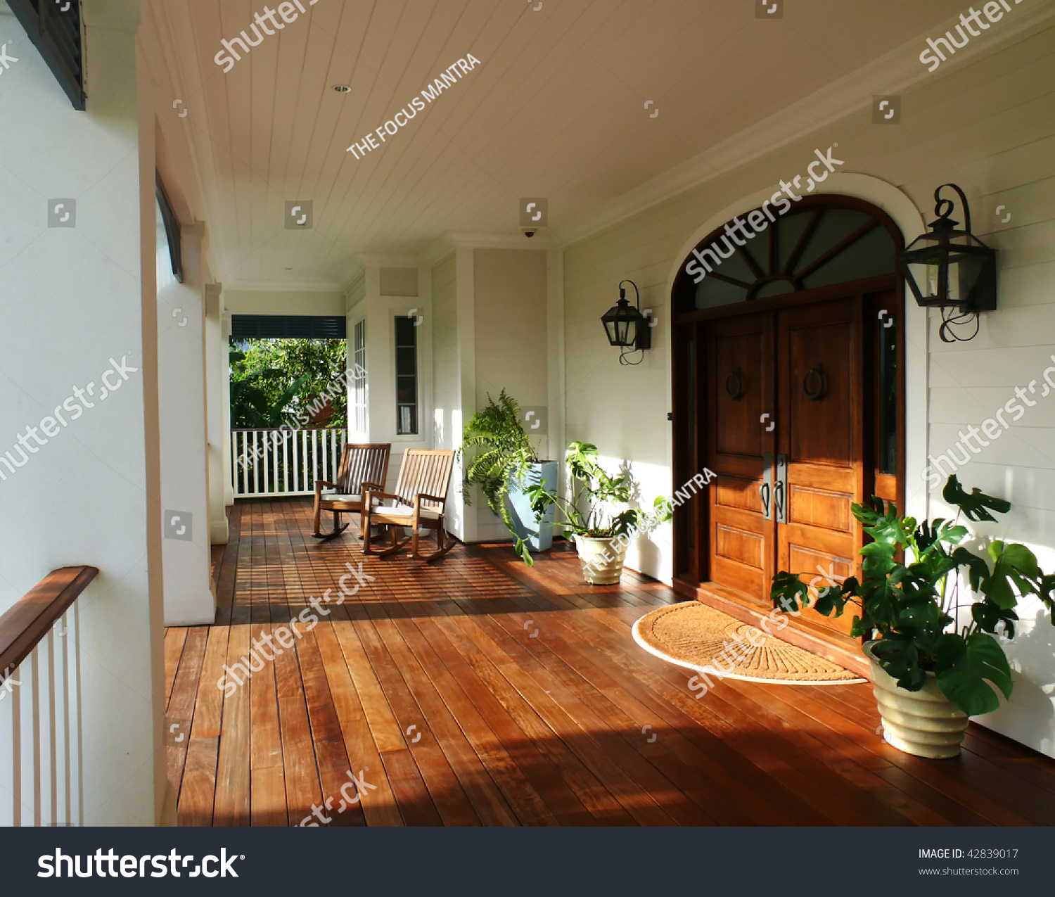 Country style porch and furniture stock photo 42839017 for Country style porch