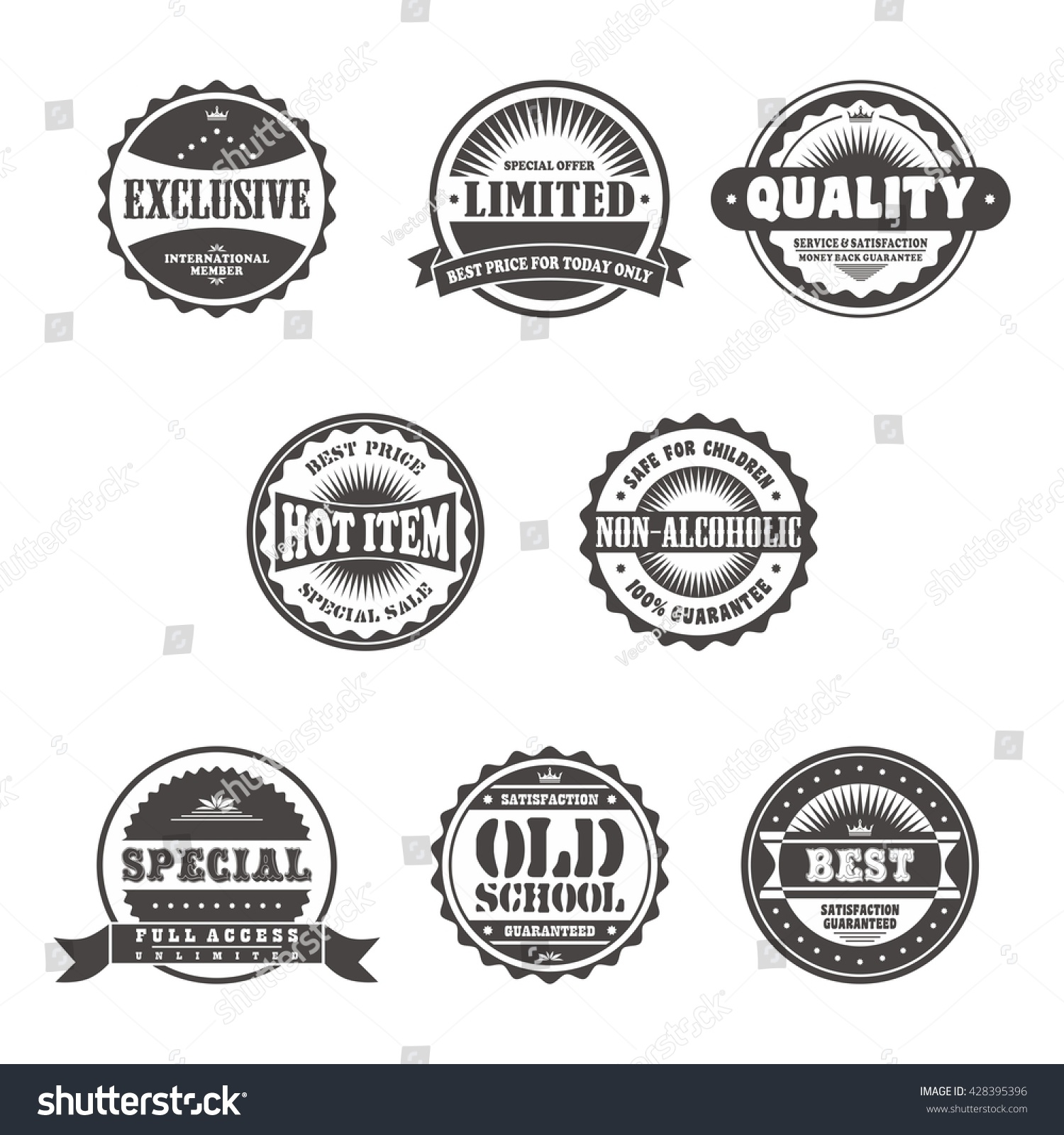 Vintage Label Template Stock Vector 428395396 - Shutterstock