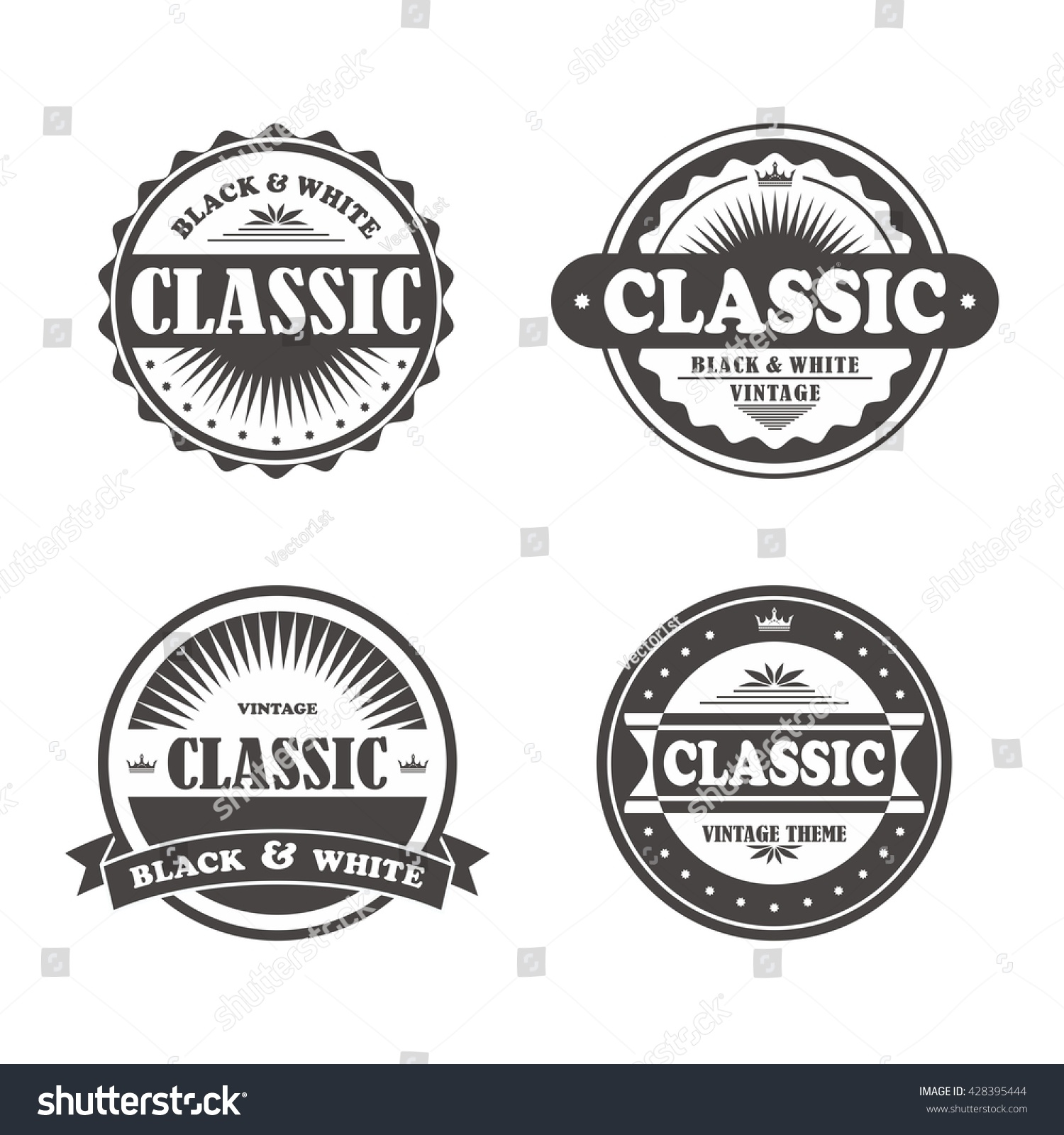 Vintage Label Template Stock Vector Royalty Free 428395444